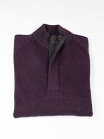 Raffi Raffi Cranberry Wool/Cashmere Venice Button Mock