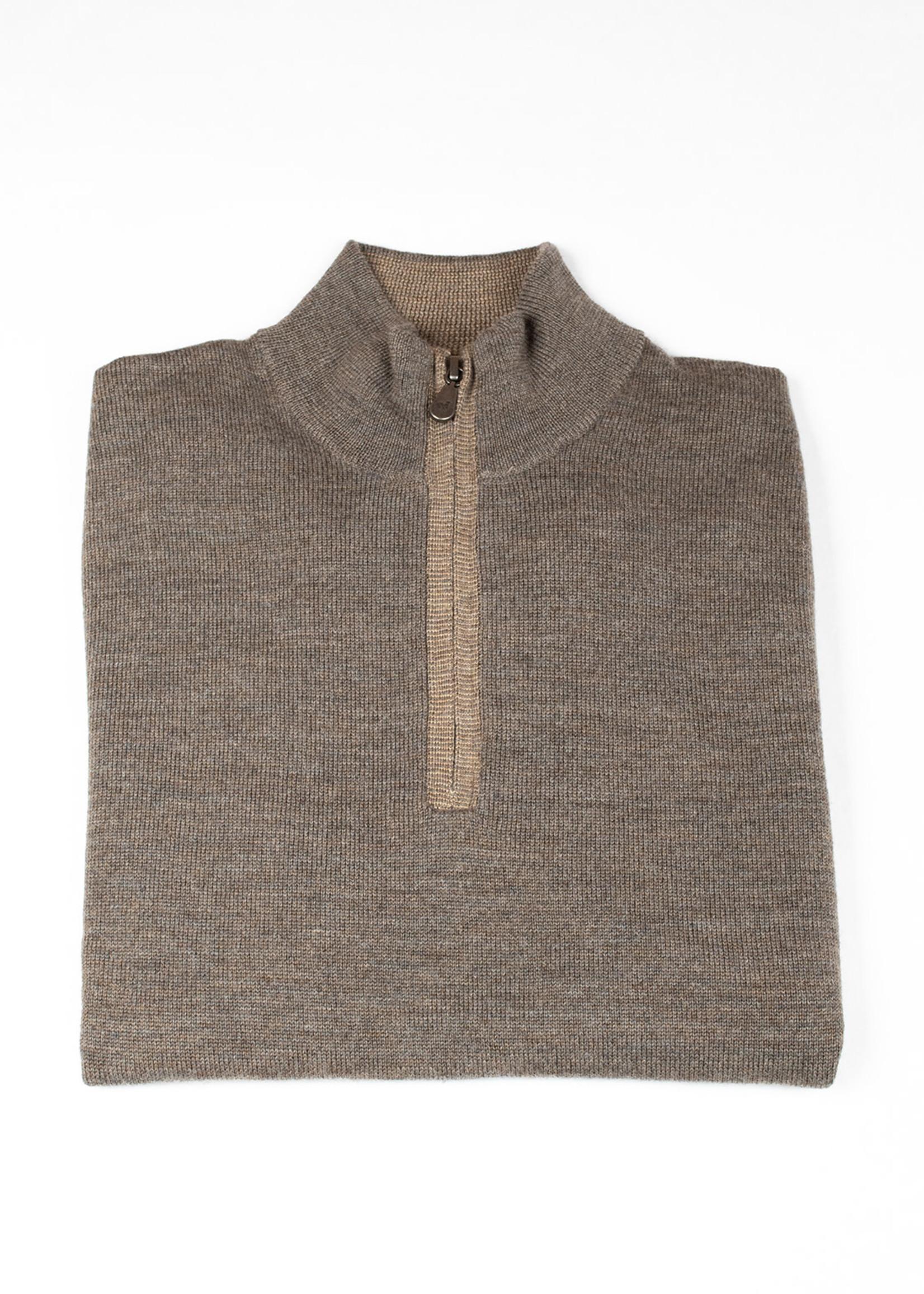 Raffi Taupe Merino Wool 1/4 Zip by Raffi