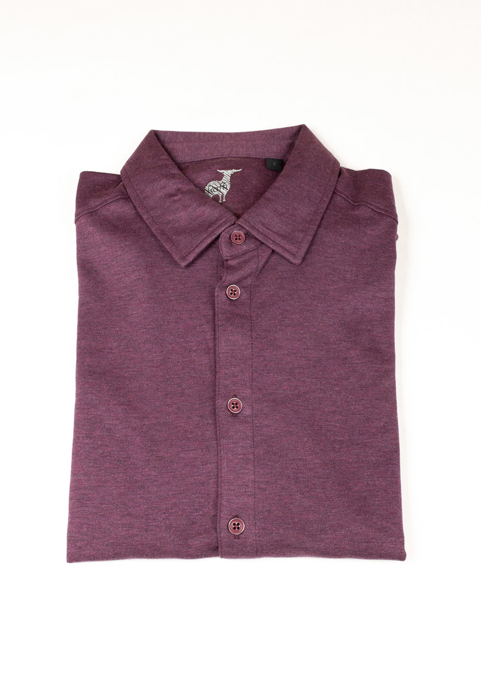 Raffi Raffi Aqua Cotton LS Button Down Wineberry
