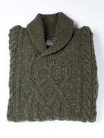 Ireland's Eye Ireland's Eye Clonard Loden Shawl Collar Cable Sweater