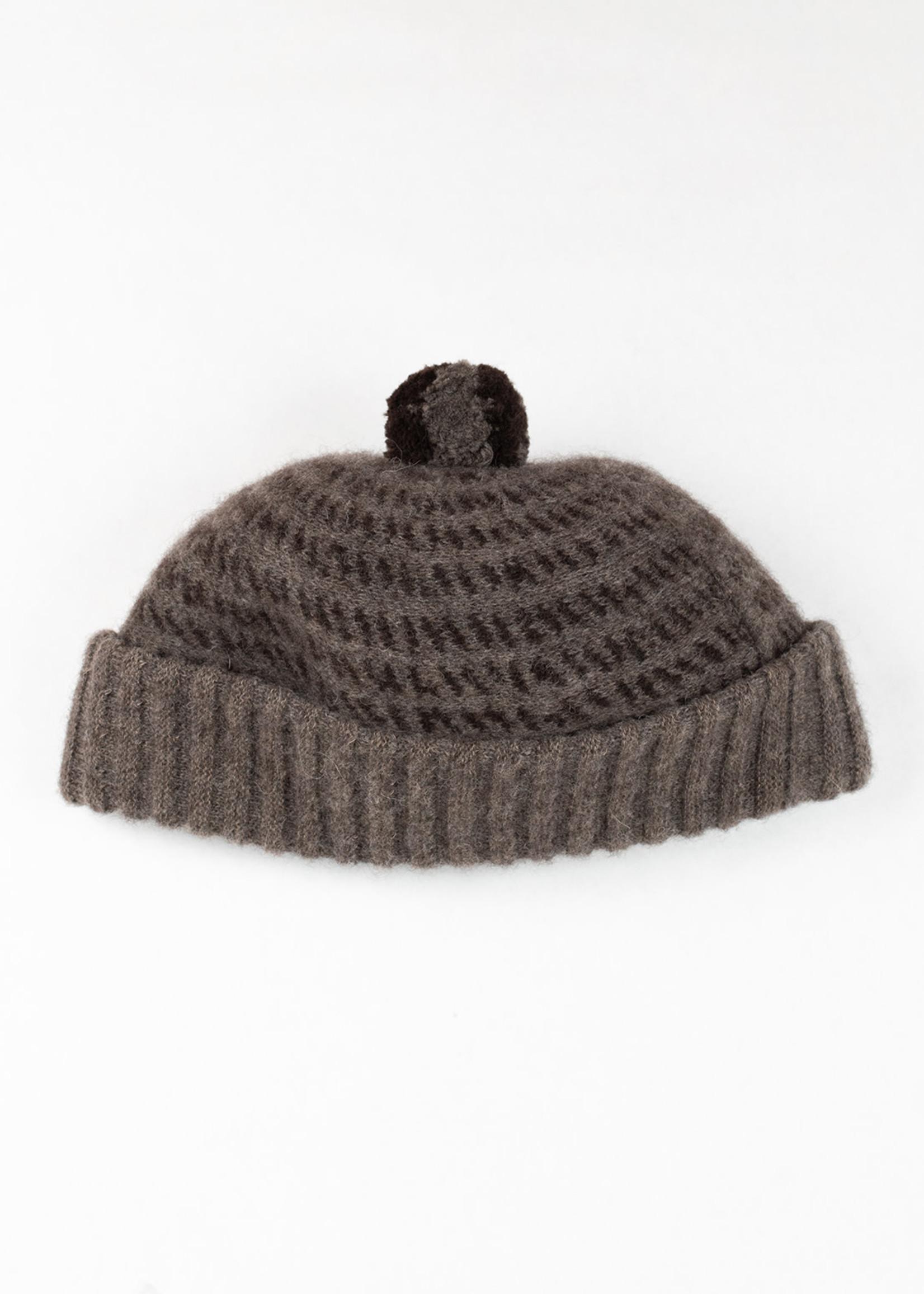 Kokeshi Alpaca/Wool Knit Bobble Cap Beige by Cableami