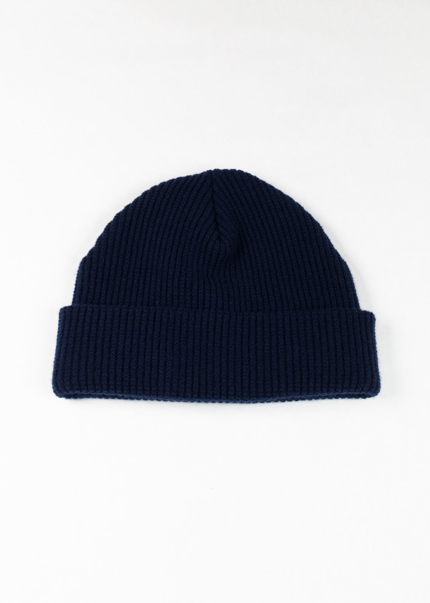 Wool/Cashmere Waffle Cap  Navy by Cableami