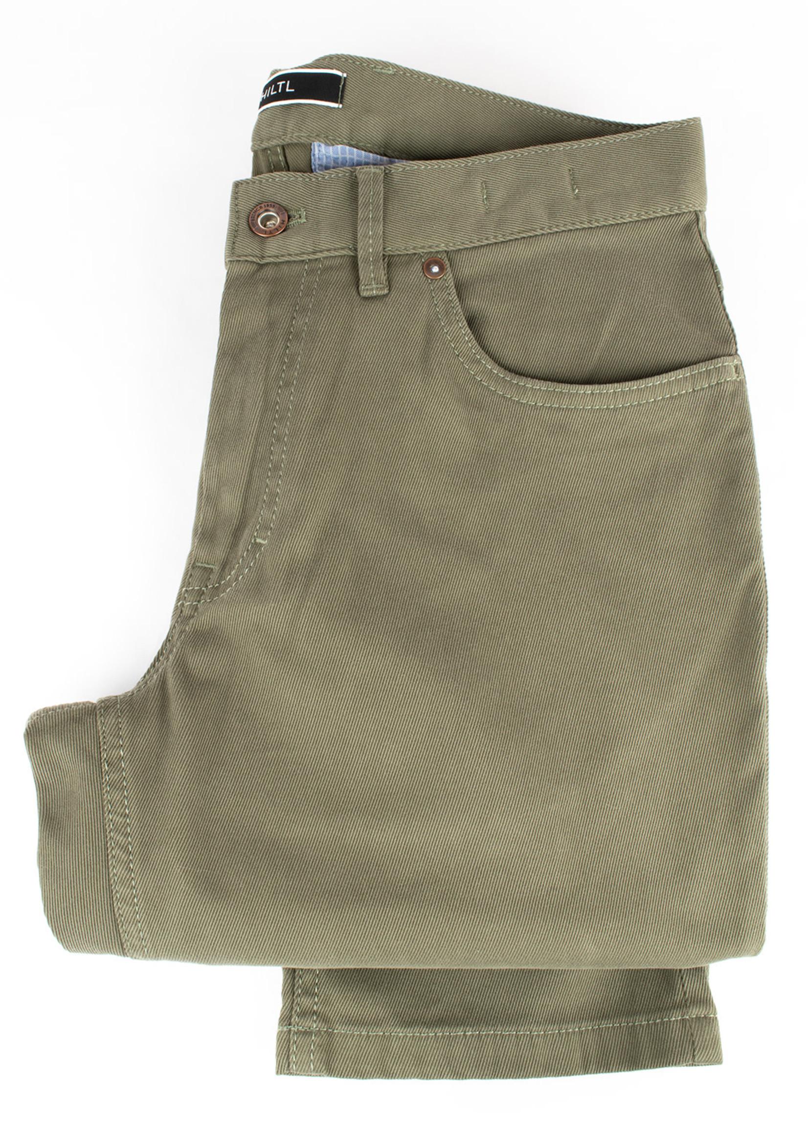 Hiltl Dude 5 Pocket Pant Olive Cotton Twill by Hiltl