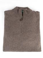 Alan Paine Alan Paine Cairns Teak Geelong 1/4 Zip Mock Neck Sweater