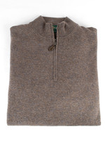 Alan Paine Cairns Teak Geelong 1/4 Zip Mock Neck Sweater by Alan Paine