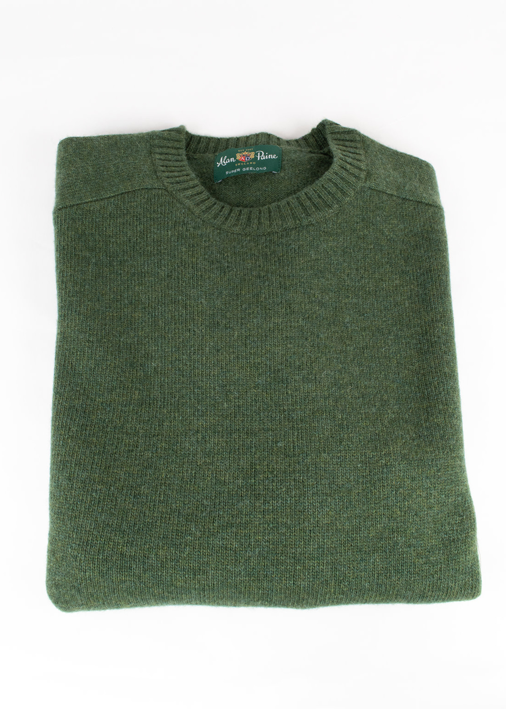 Alan Paine Alan Paine Kendal Rosemary Geelong Lambswool Crew Neck Sweater