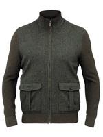 Alan Paine Alan Paine Thursford Loden Merino/Tweed Zip Mock Sweater