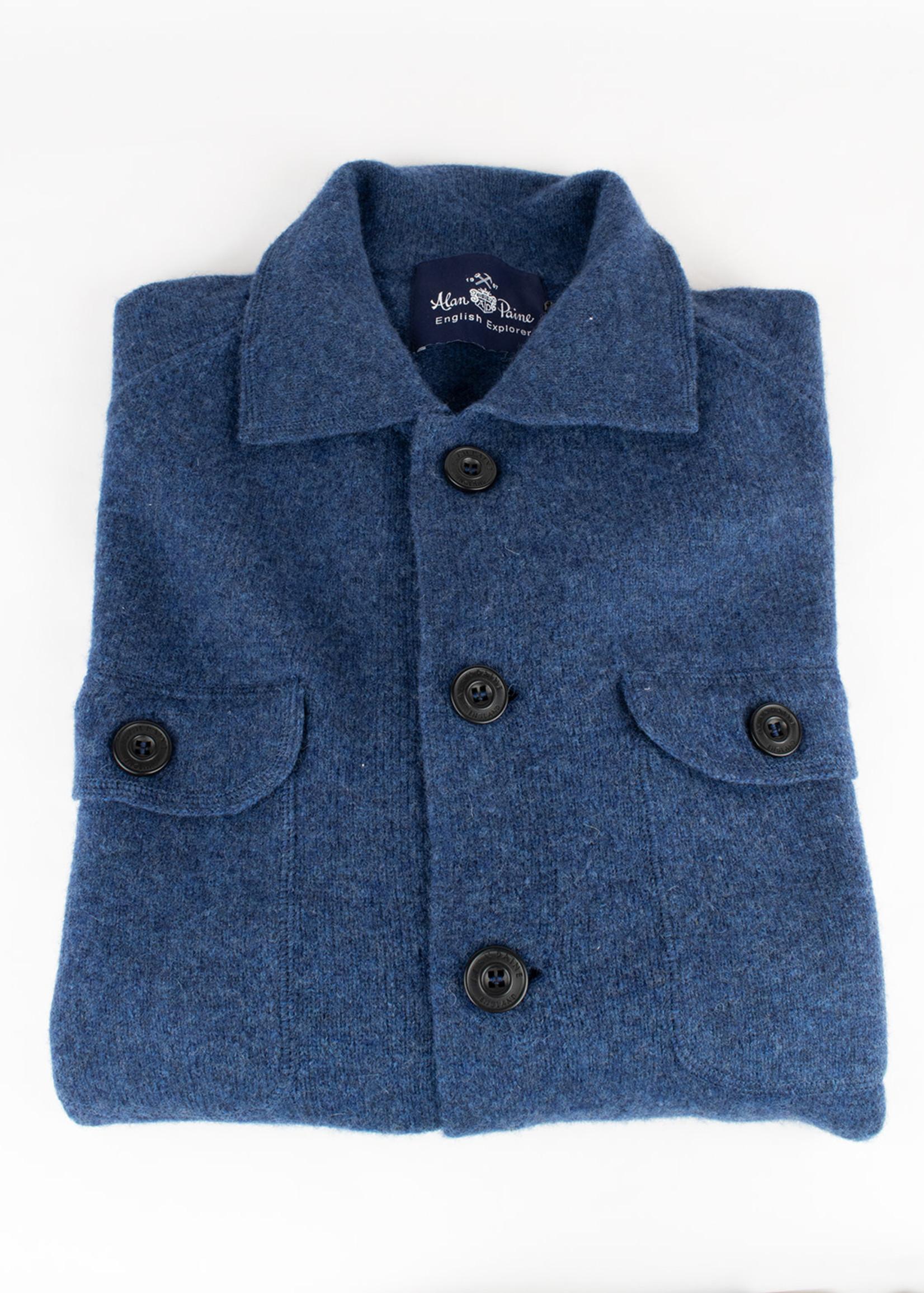 Alan Paine Alan Paine Tutbury Rhapsody Boiled Lambswool Knit Shirt