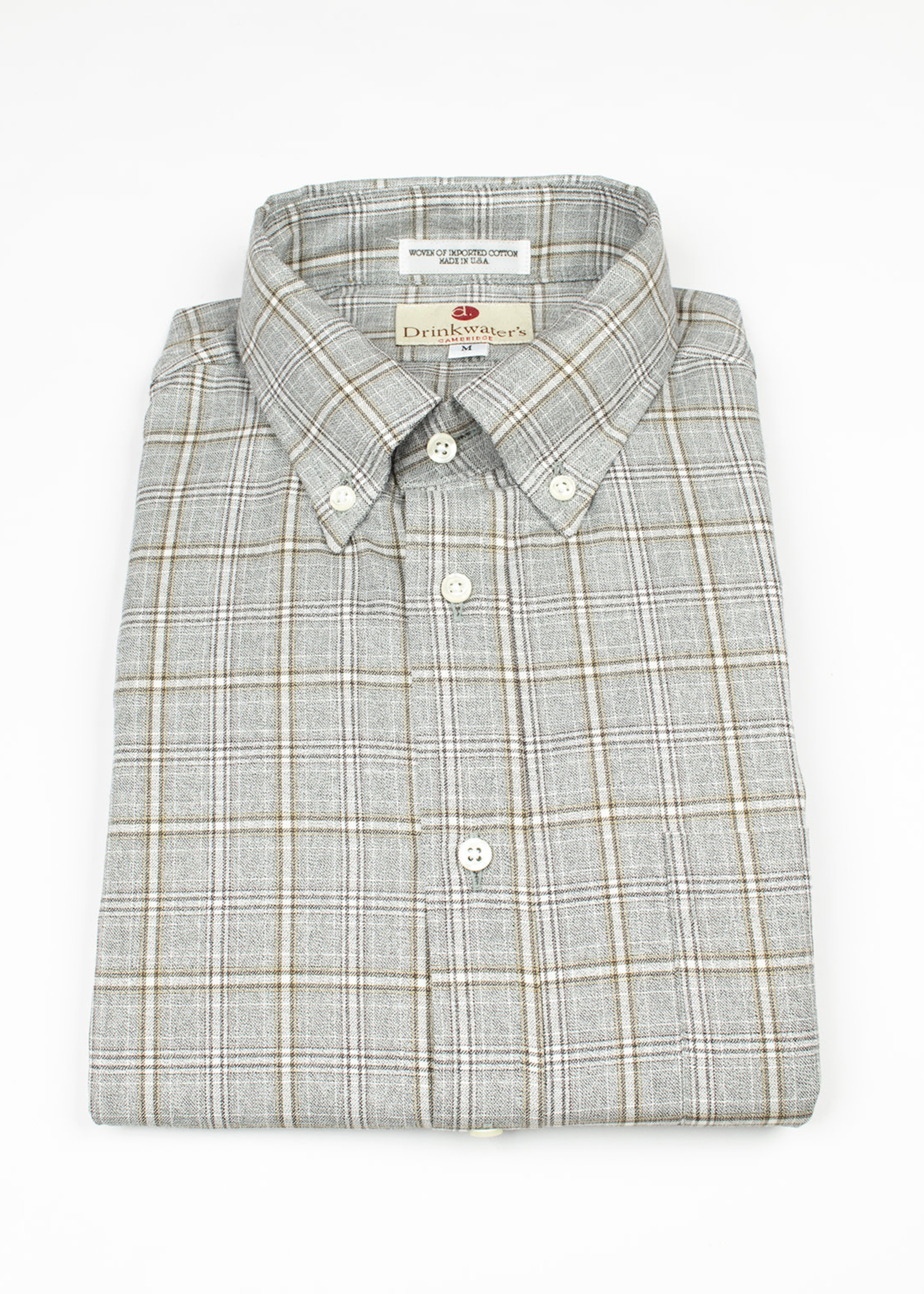 Drinkwater's Gray/Brown Plaid BD b's