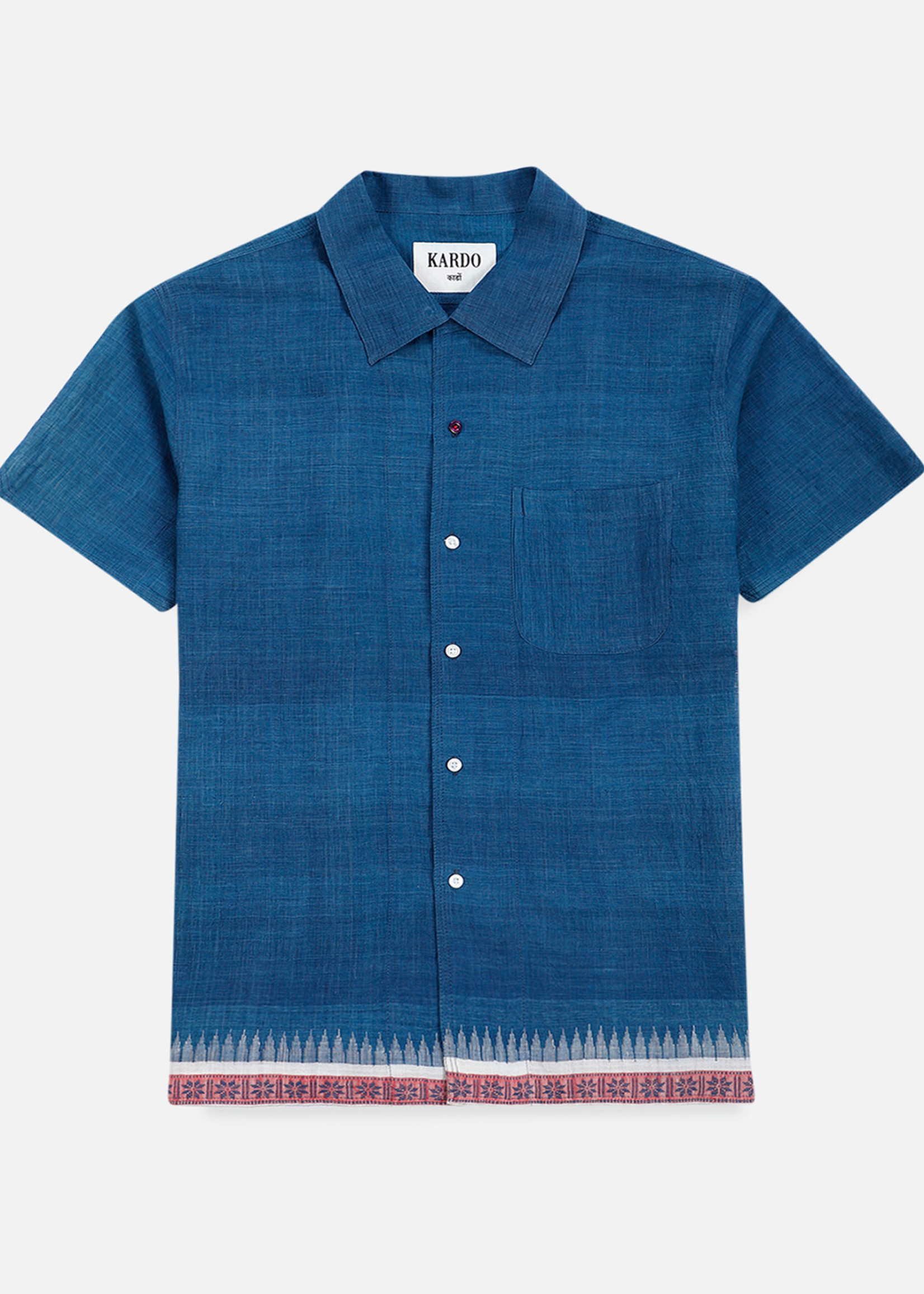 Kardo Kardo Chintan Indigo Short Sleeve Shirt