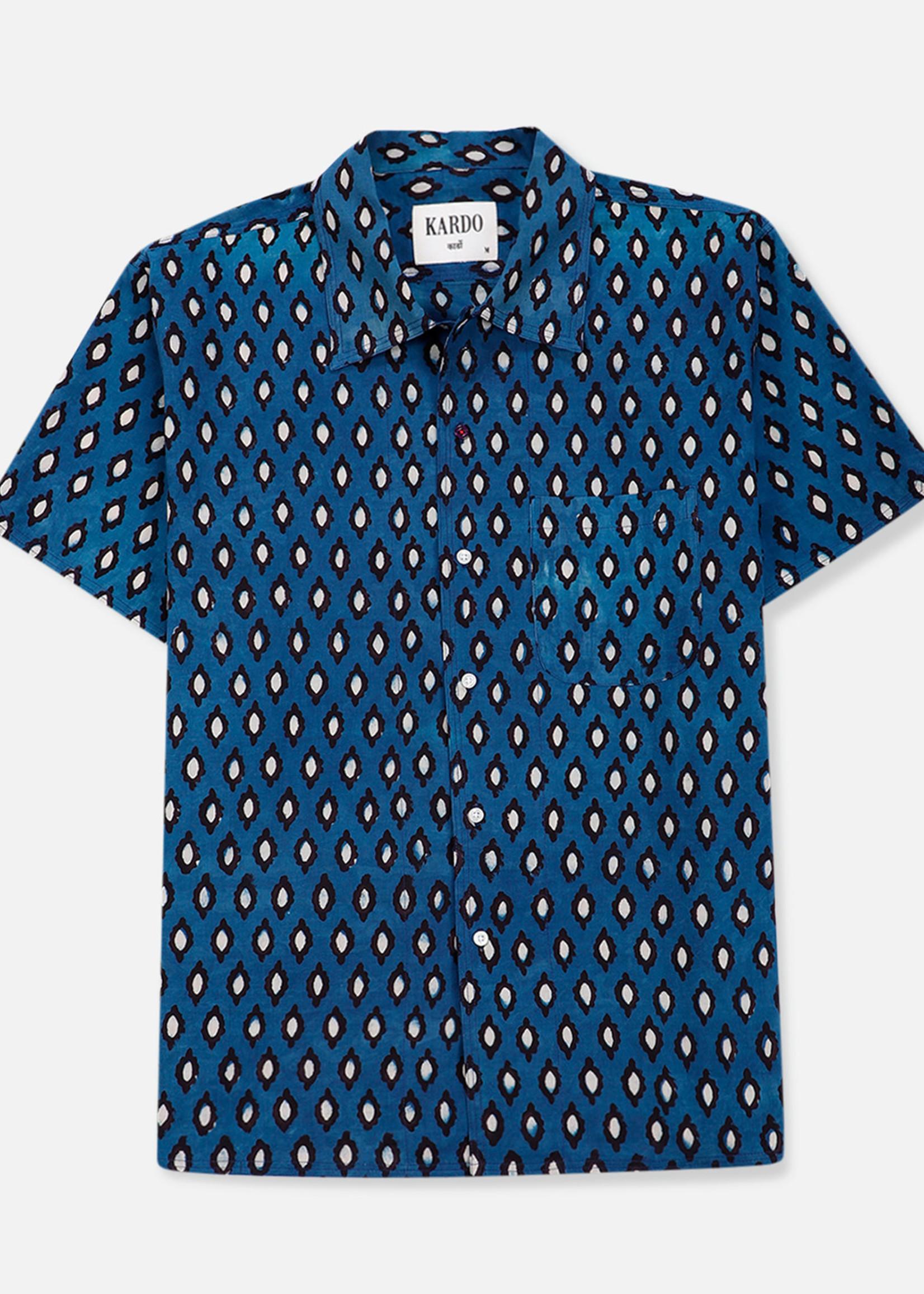 Kardo Kardo Chintan Blue Short Sleeve Shirt