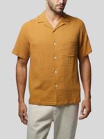 Portuguese Flannel Portuguese Flannel Flame S/S Camp Collar Shirt Tangerine