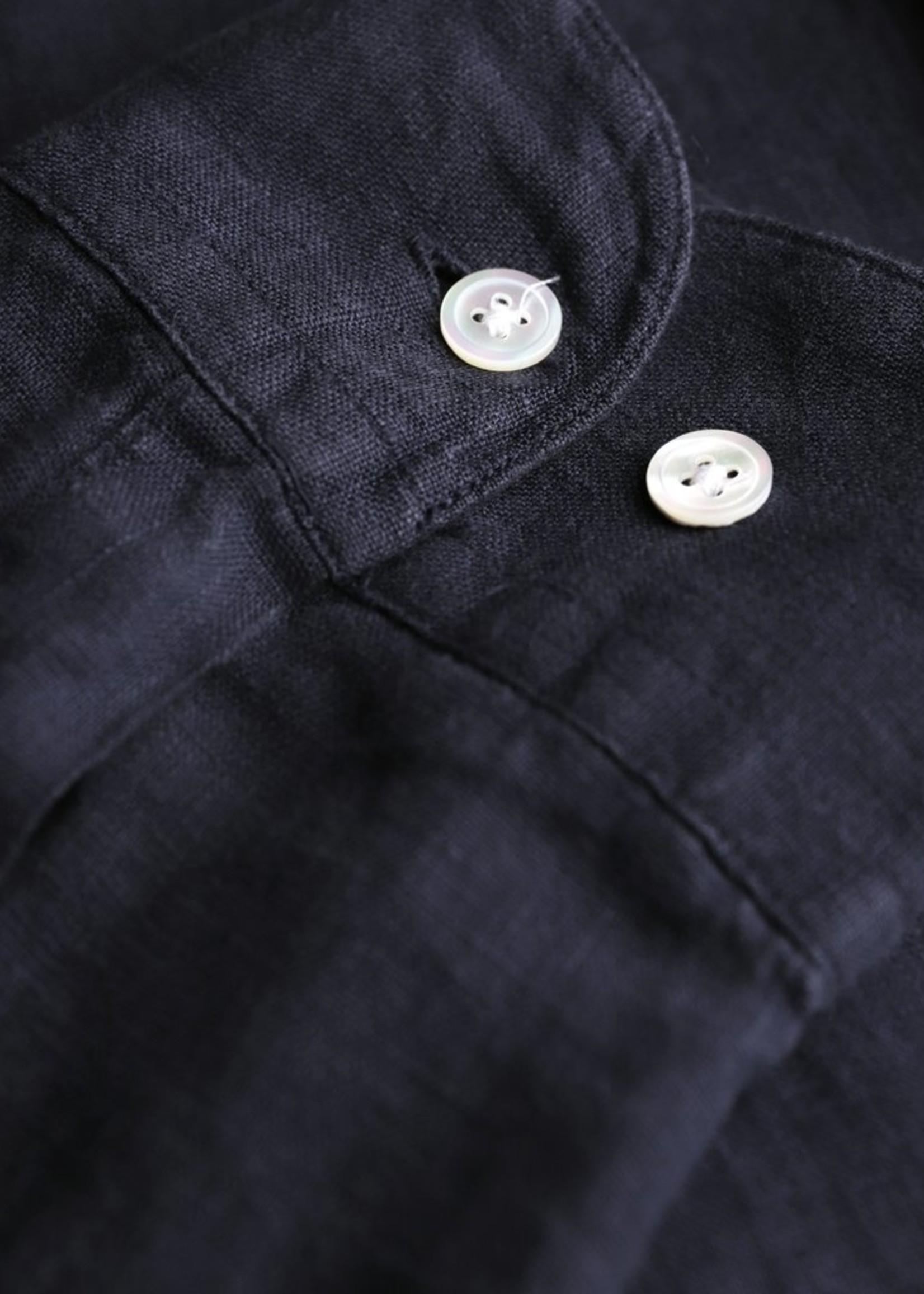 Portuguese Flannel Portuguese Flannel Linen L/S Shirt Navy
