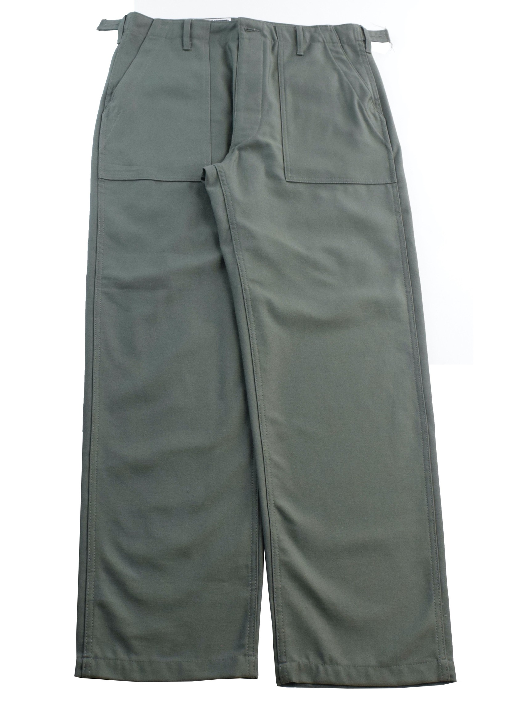 Engineered Garments EG Workaday Fatigues Olive Reverse Sateen