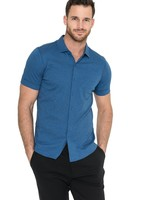 Raffi Raffi Aqua Cotton Short Sleeve Shirt Denim