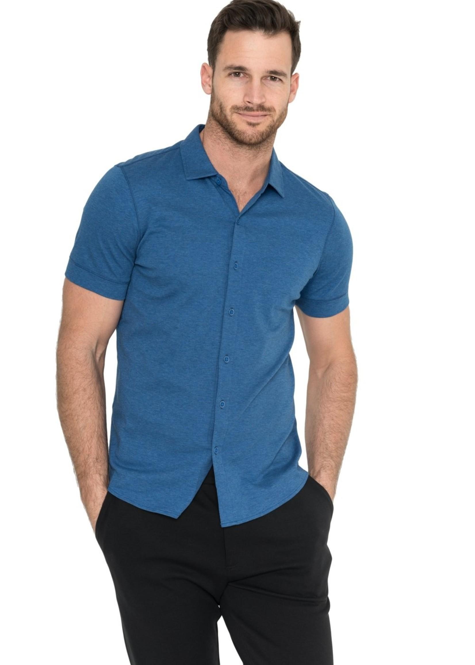 Raffi Raffi Aqua Cotton Short Sleeve Shirt Denim