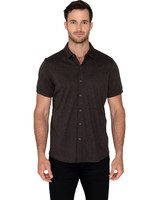Raffi Raffi Aqua Cotton Short Sleeve Shirt Espresso