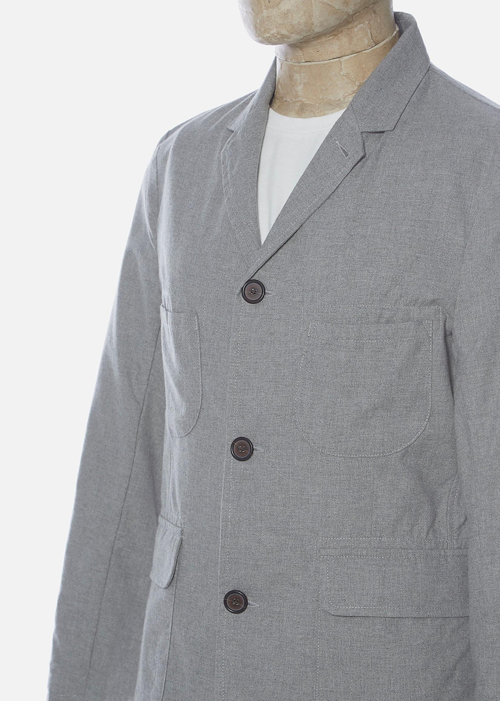 Universal Works Universal WorksBarra Jacket Grey Cotton Suiting