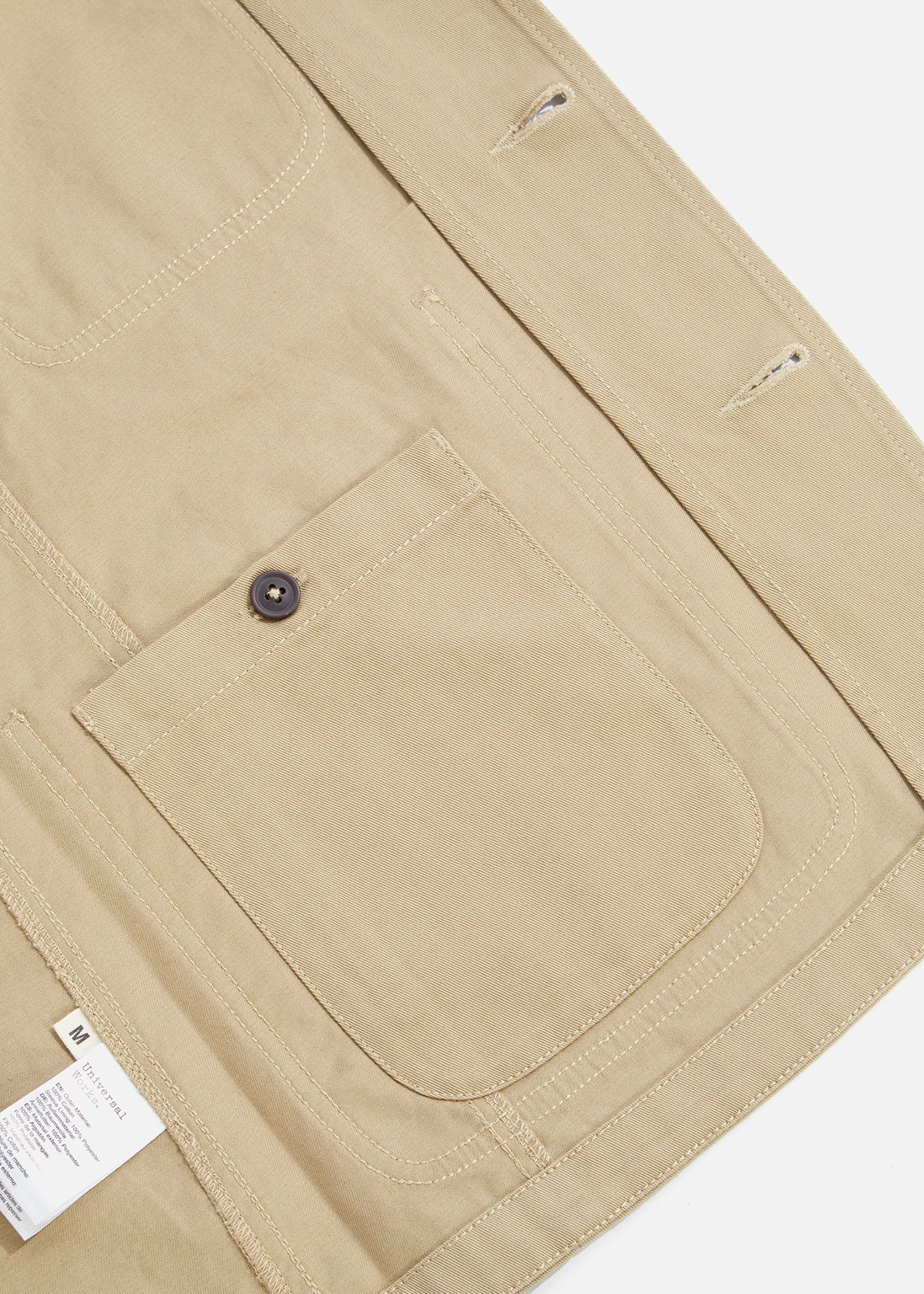 Universal Works Universal Works Bakers Jacket Tan Cotton Twill