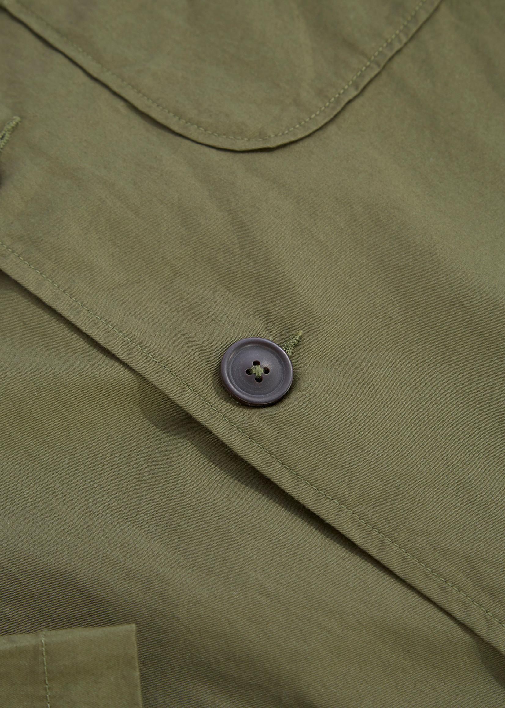 Universal Works Universal Works Three Button Jacket Olive Fine Cotton Twill