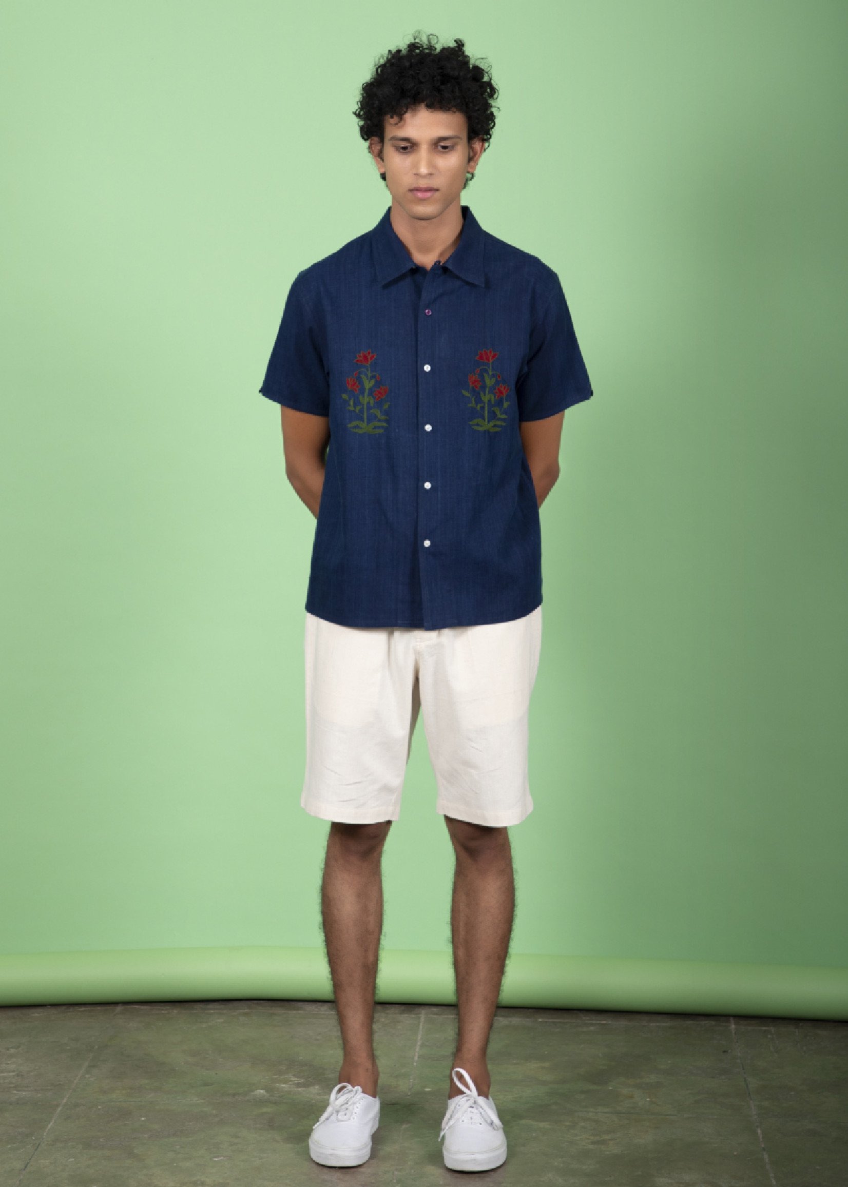 Kardo Kardo Chintan Chambray Short Sleeve Shirt