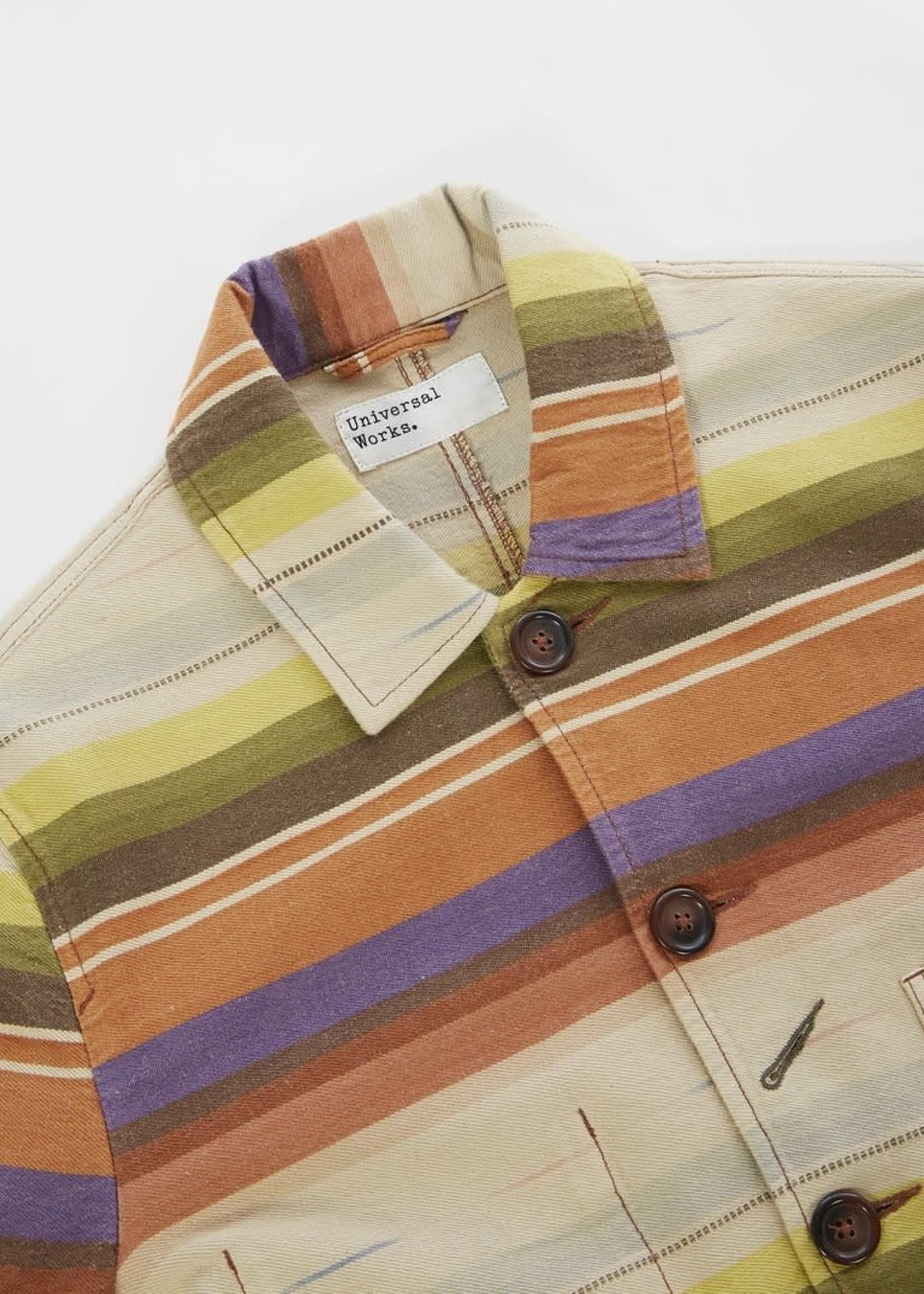 Universal Works UW Baker Jacket Multi Stripe Mex Blanket (24144)