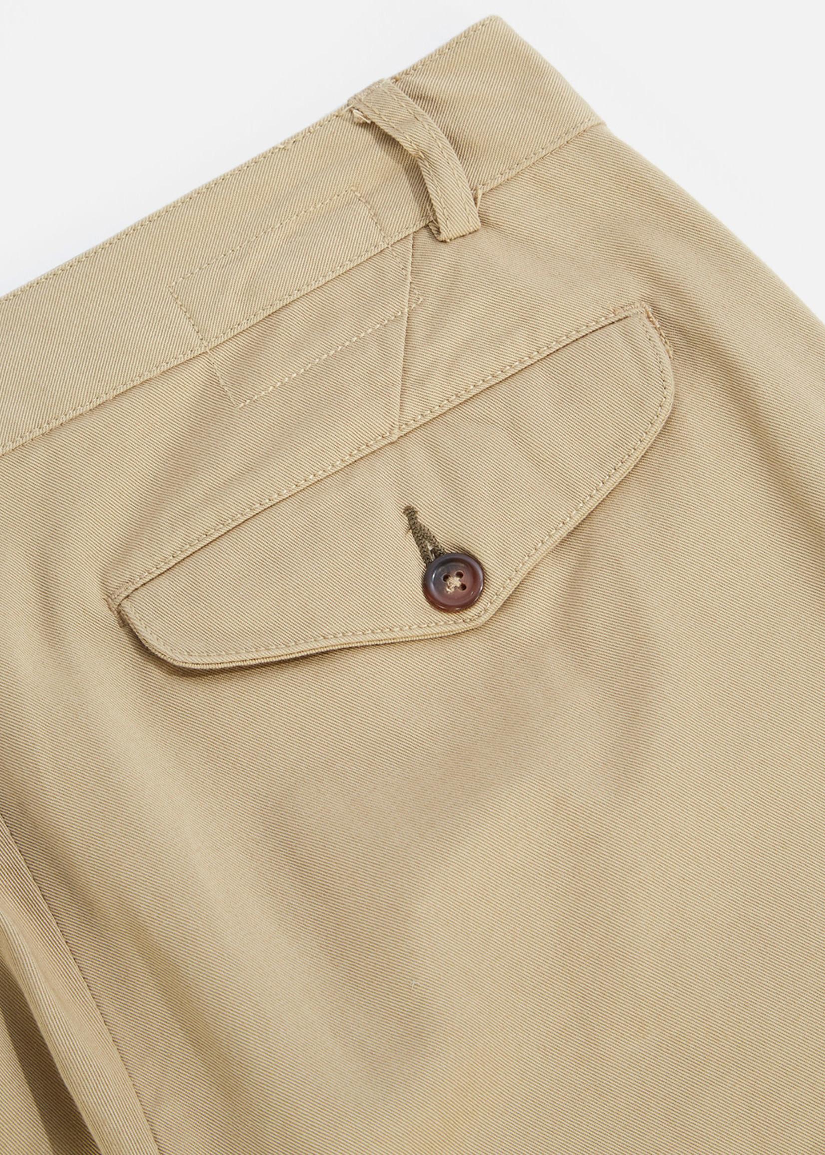 Universal Works Universal Works Aston Pant Tan Cotton Twill
