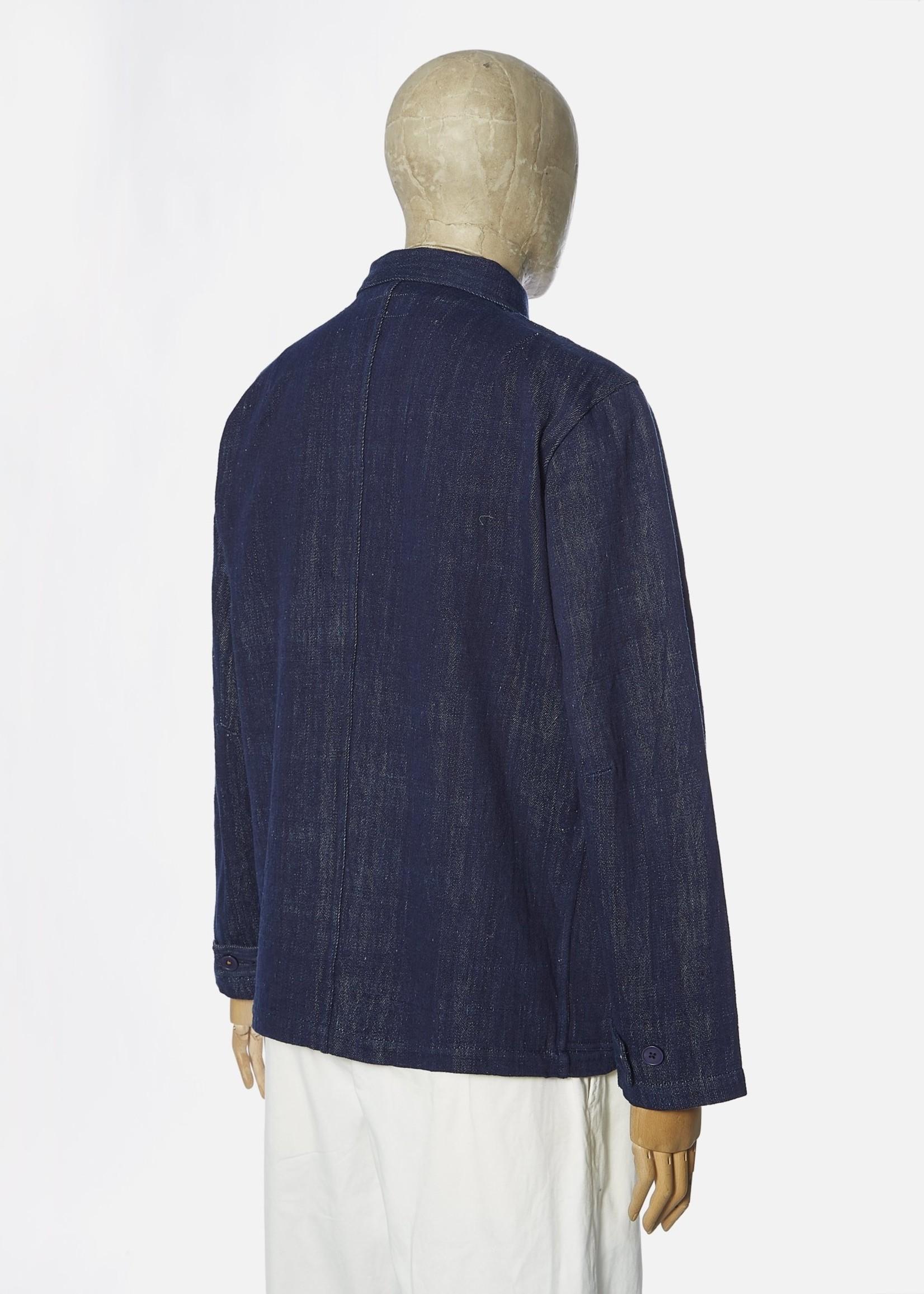 Universal Works Universal Works Labour Jacket II Indigo Handloom Denim