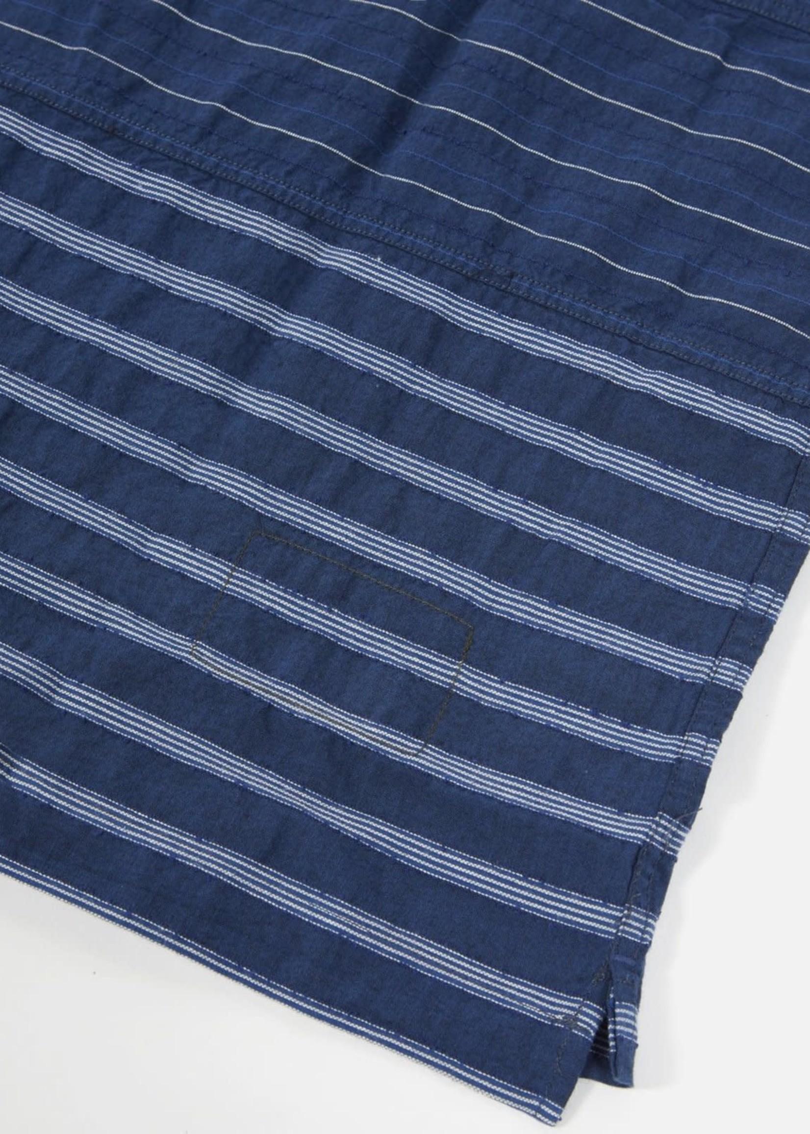 Universal Works Universal Works Panel Shirt Cotton/Poly Light Blue