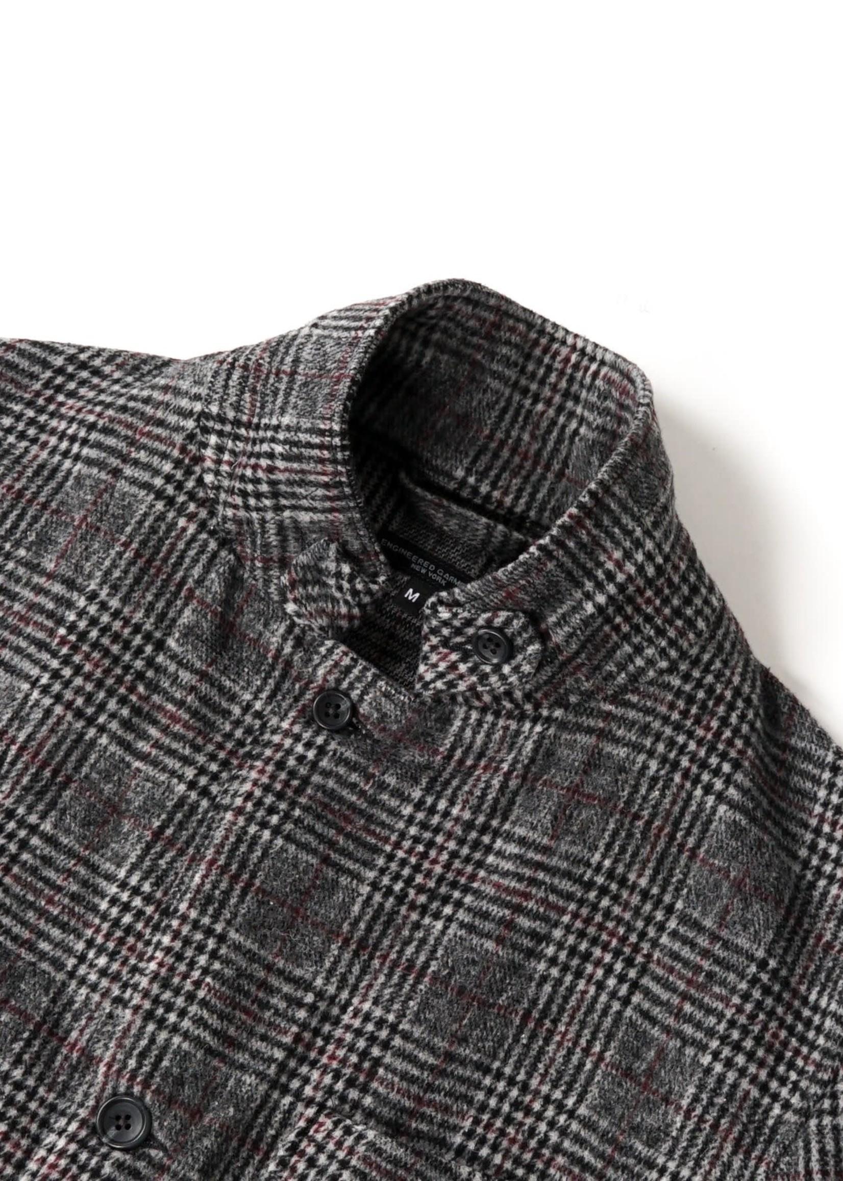 Engineered Garments Engineered Garments Loiter Jacket Grey / Maroon Glen Plaid  Poly / Wool