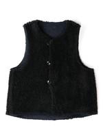 Engineered Garments Engineered Garments  Over Vest Navy Black Jaquard Poly Paisley