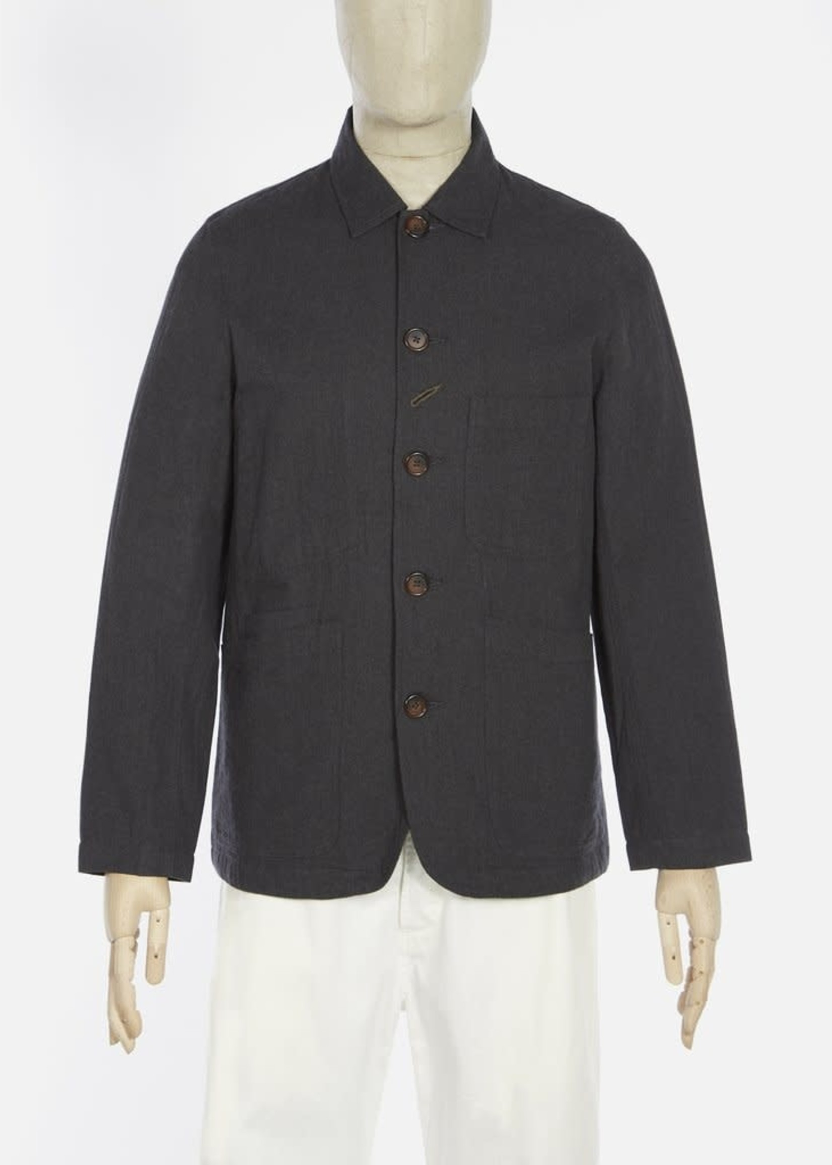 Universal Works Universal Works Bakers Jacket Charcoal Cotton Herringbone