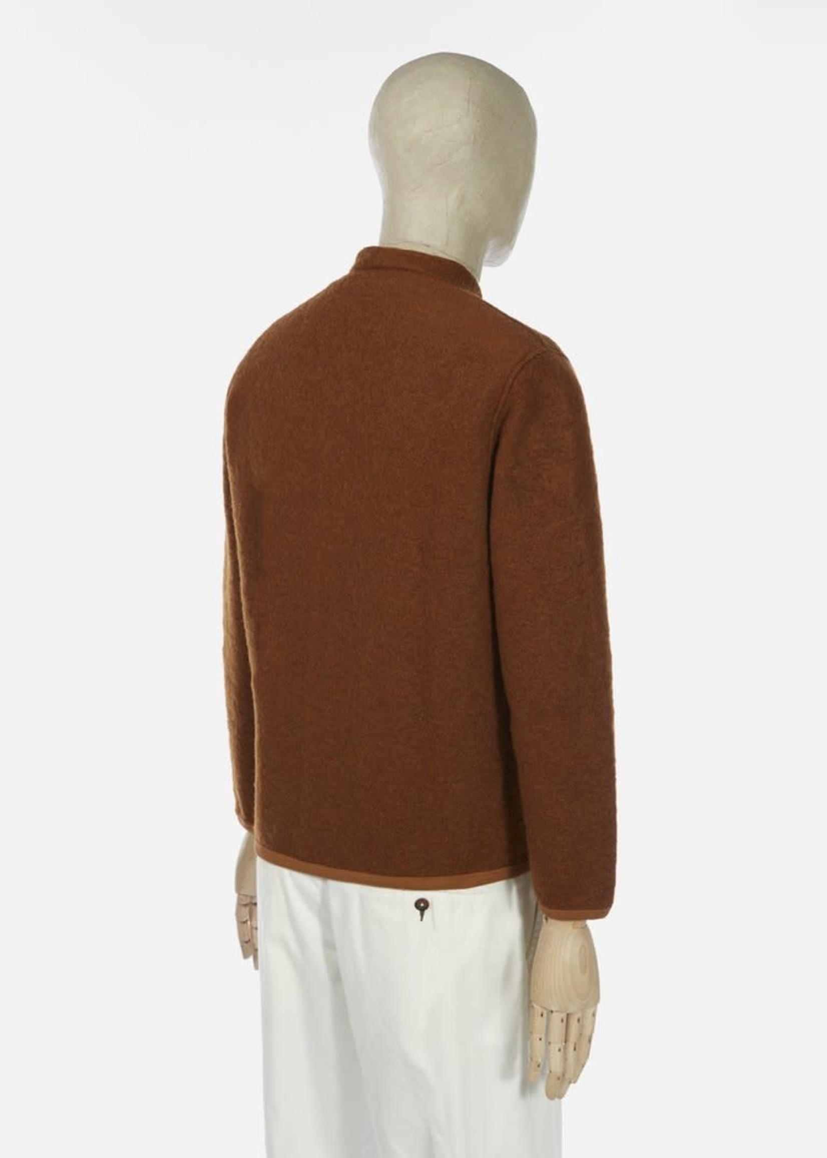 Universal Works Universal Works Fleece Cardigan Rust Wool / Poly