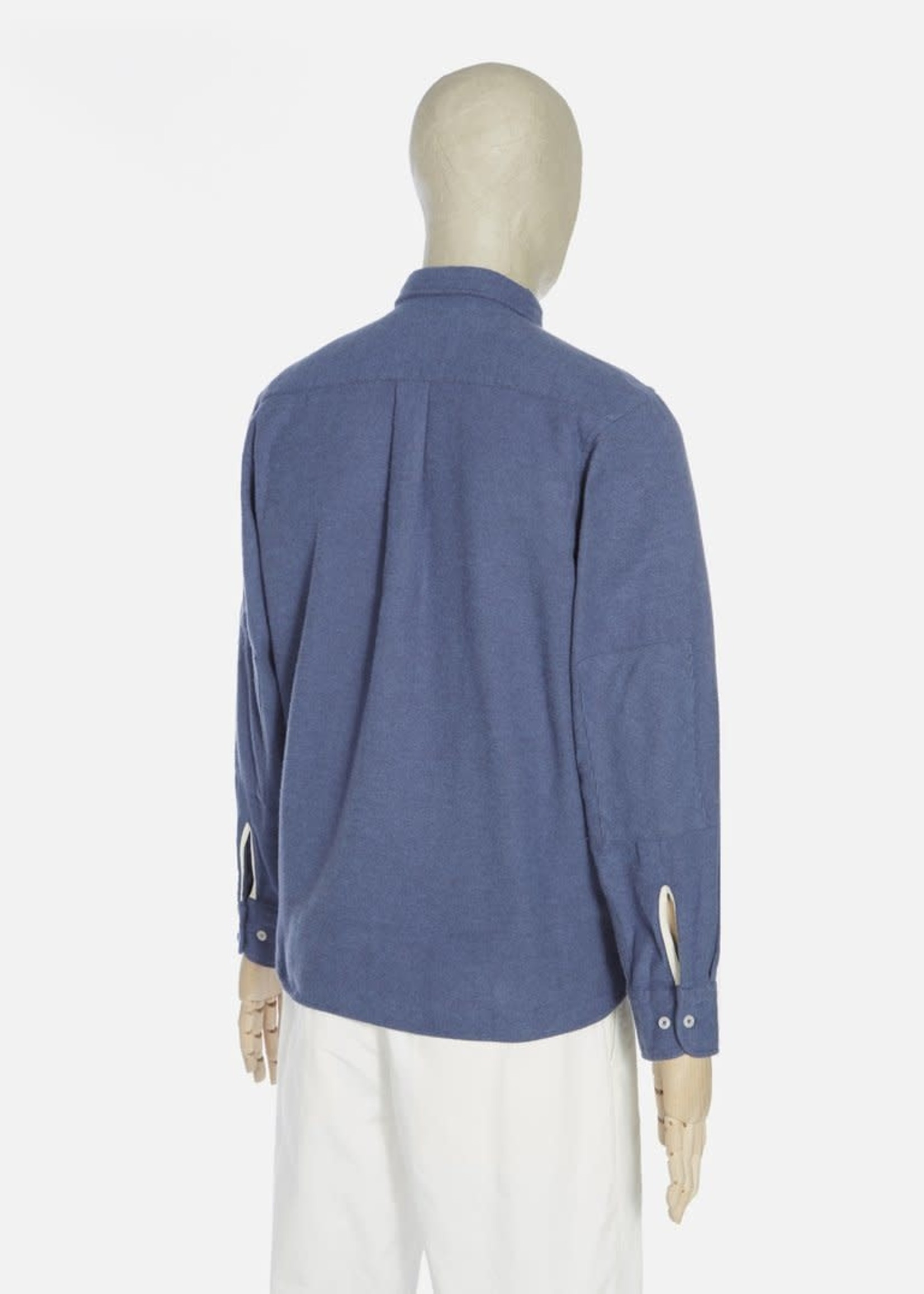 Universal Works Universal Works New Standard Shirt Blue Alaska Brushed Cotton