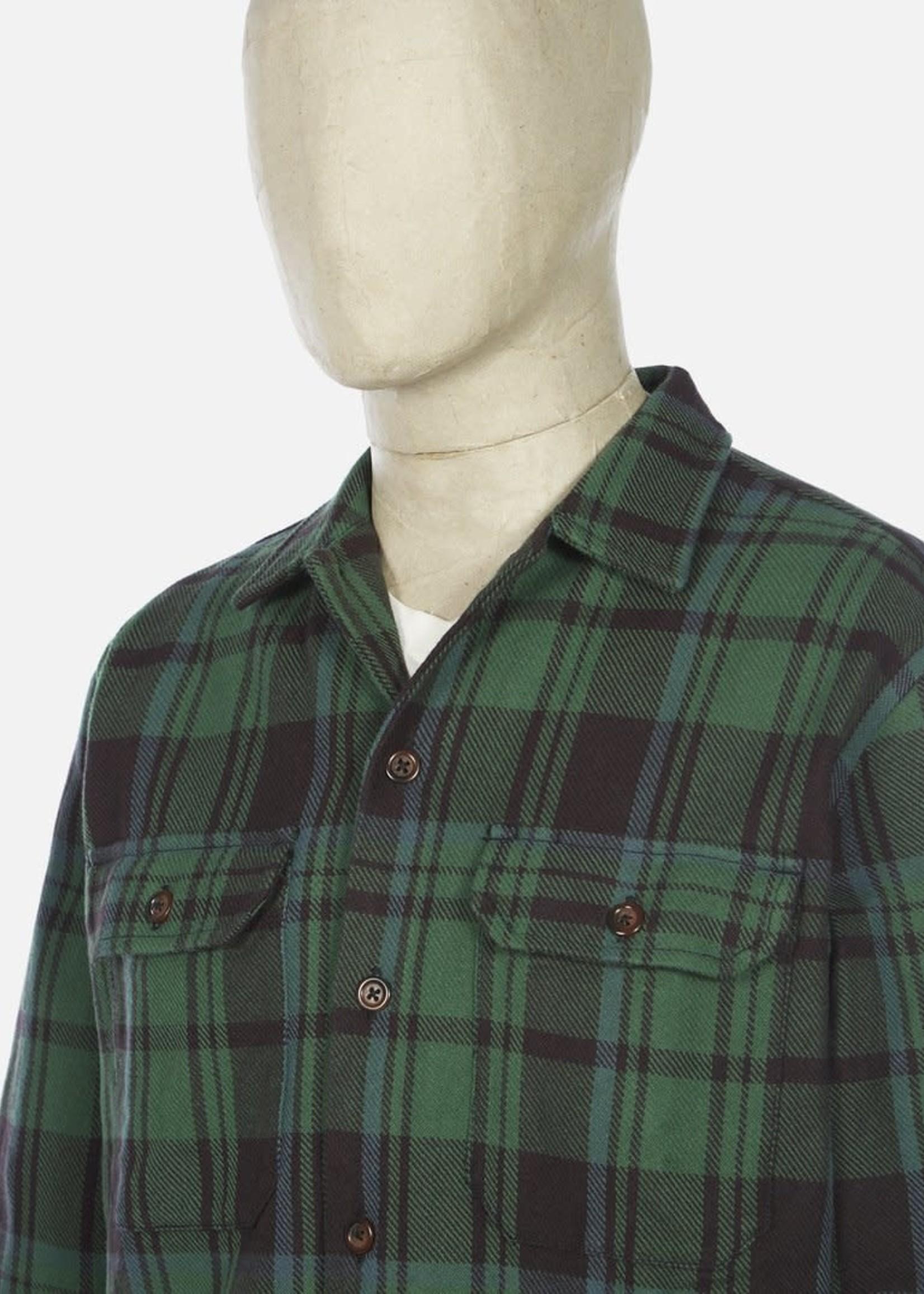 Universal Works Universal Works  Utility Shirt Green Heavy Check