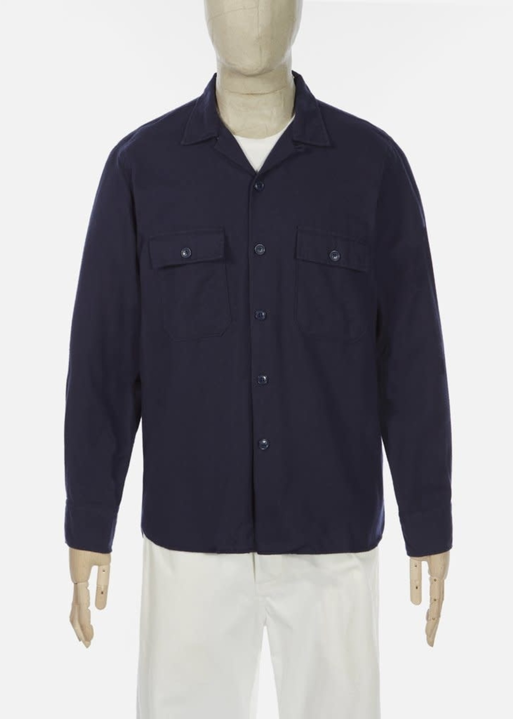 Universal Works Universal Works Worker Shirt Hudson Navy Cotton