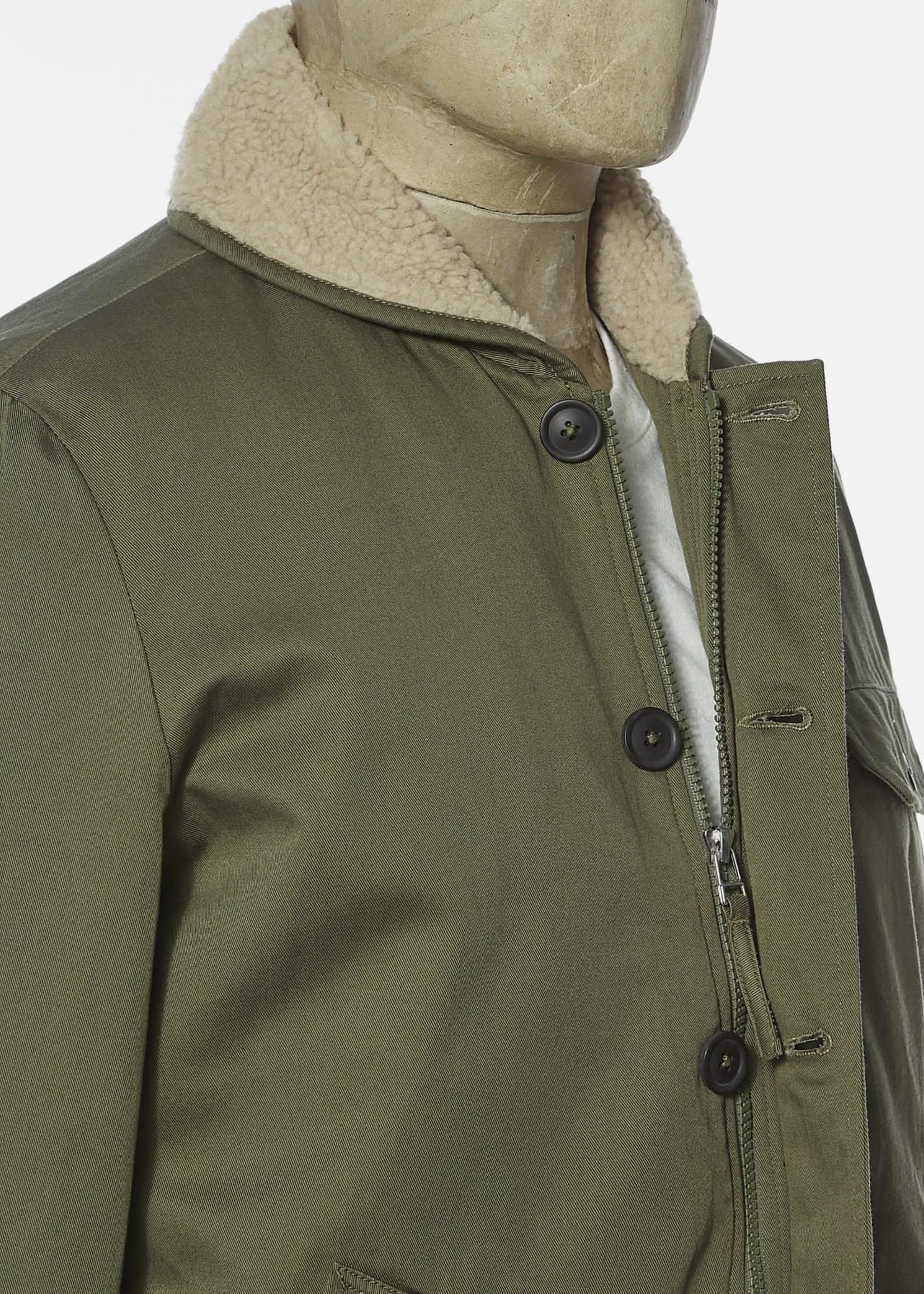 Universal Works Universal Works N1 Jacket Light Olive Twill