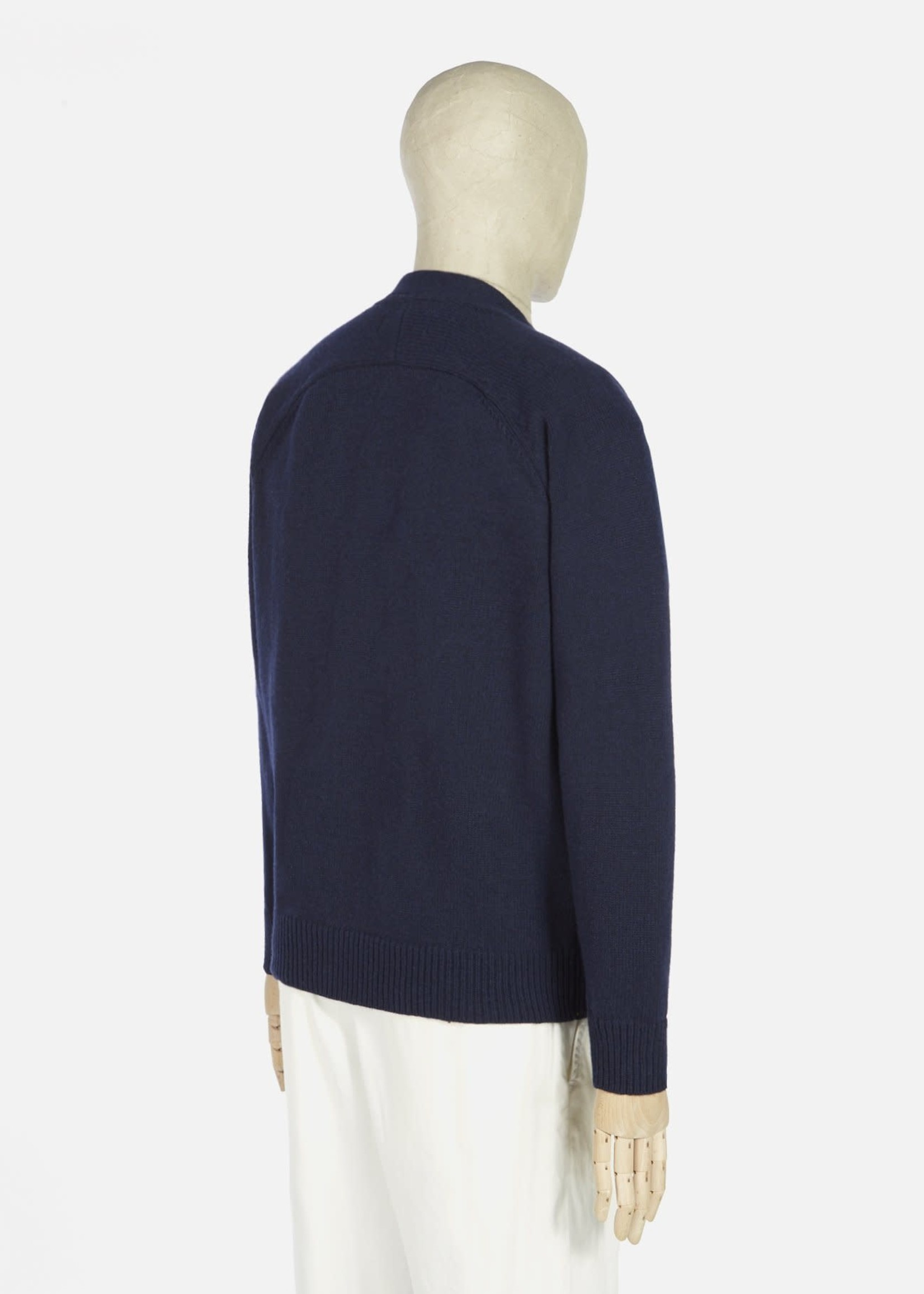 Universal Works Universal Works Vince Cardigan Navy Recycled Wool