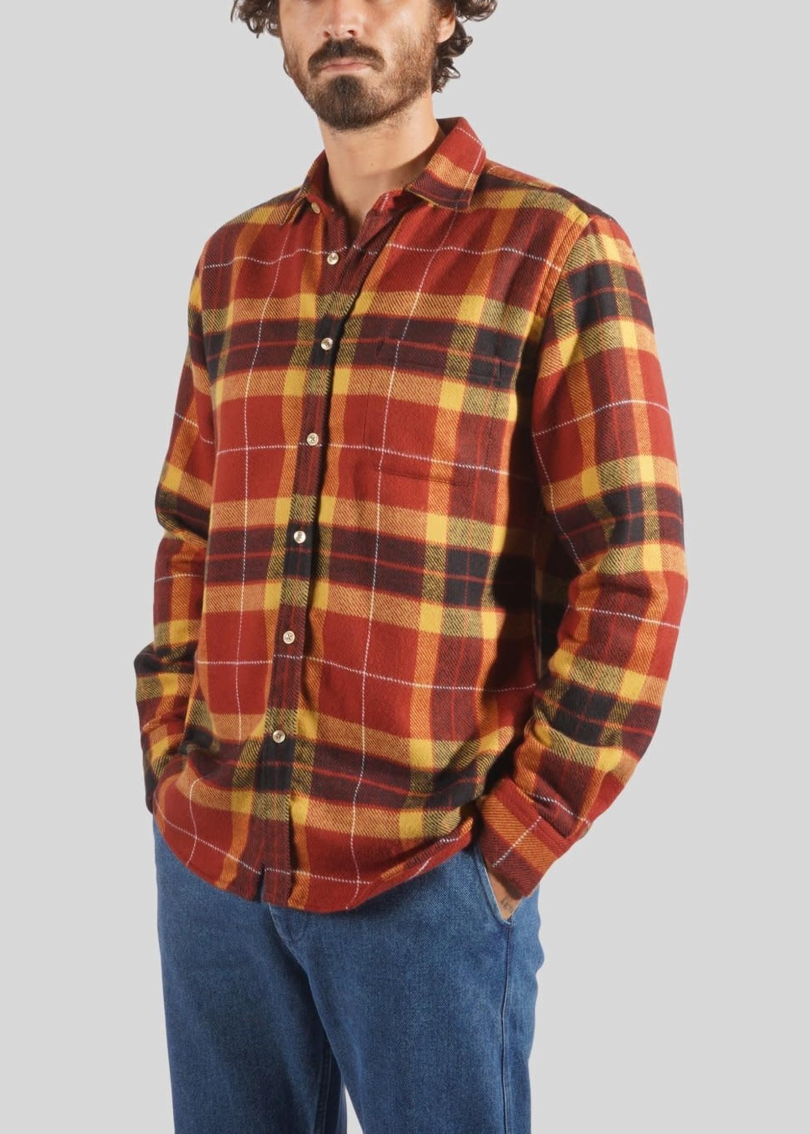 Portuguese Flannel Portuguese Flannel Baviera Red Yellow Plaid Sport Shirt
