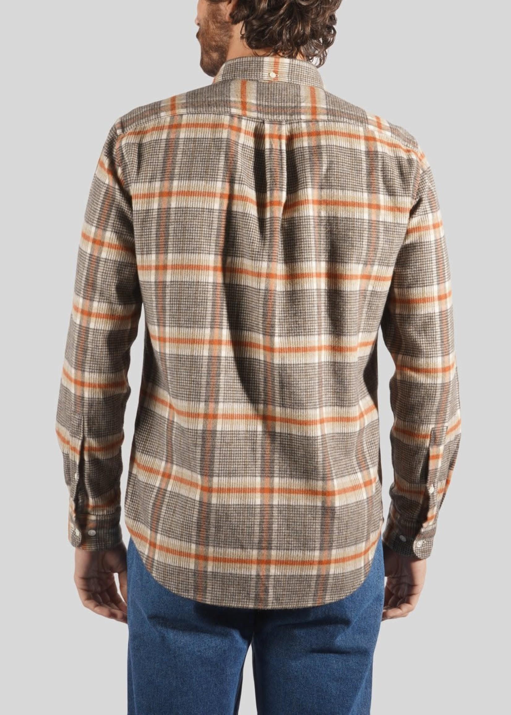 Portuguese Flannel Portuguese Flannel Bibliotek Grey Brick Check Sport Shirt