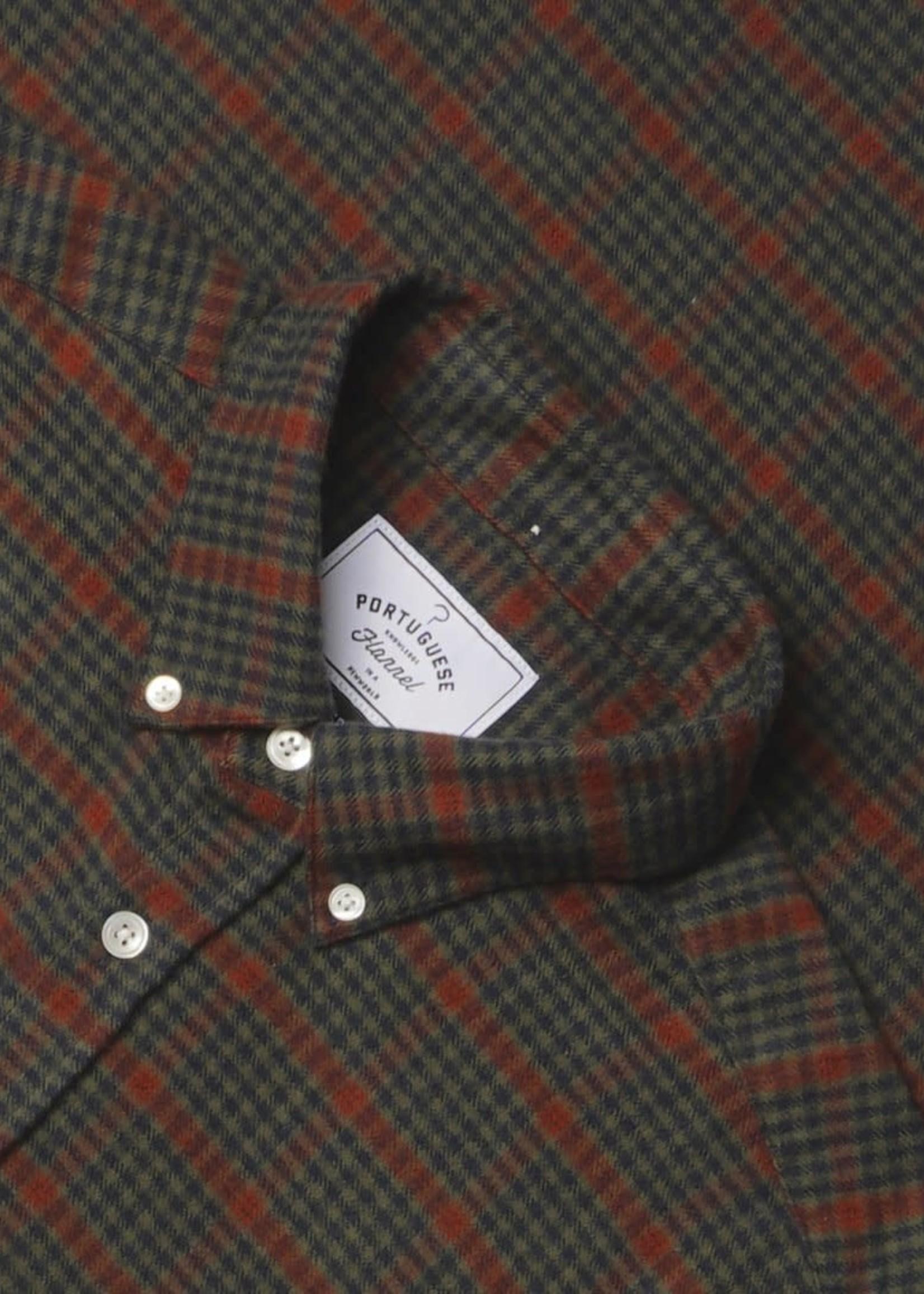 Portuguese Flannel Portuguese Flannel Coimbra Red Green Check Flannel Sport Shirt
