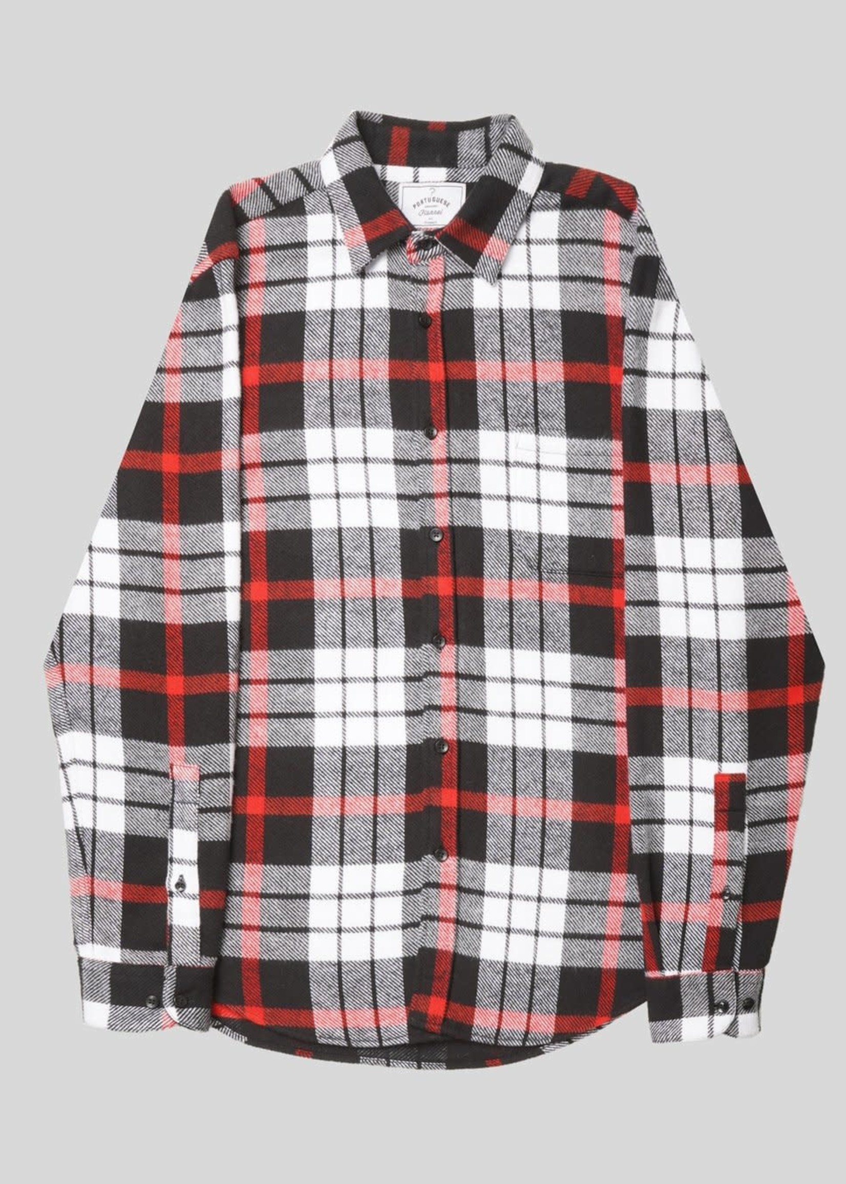 Portuguese Flannel Portuguese Flannel Marvao Red Black Plaid Sport Shirt
