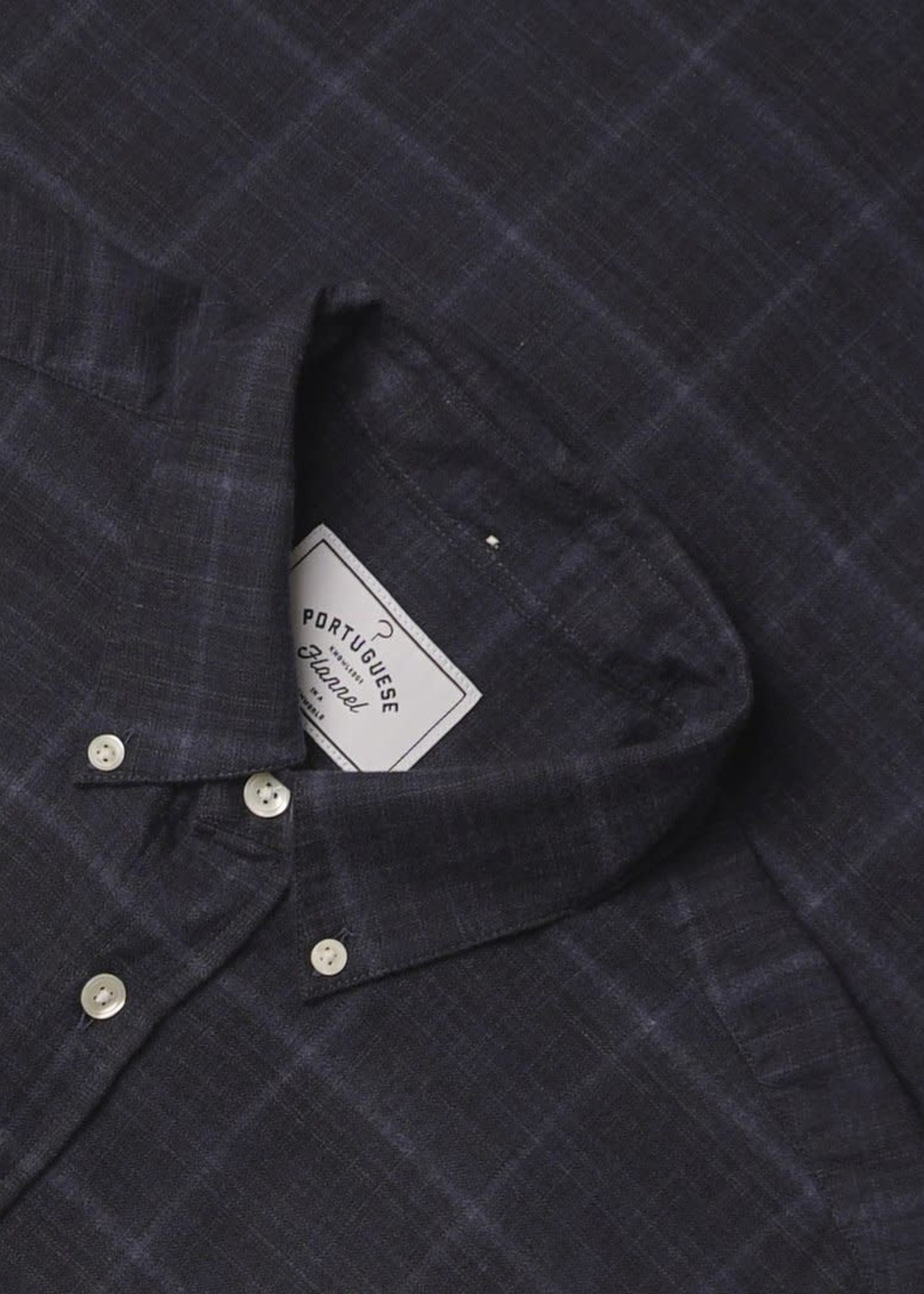 Portuguese Flannel Portuguese Flannel Inside Heater Navy / Blue Plaid Flannel Sport Shirt