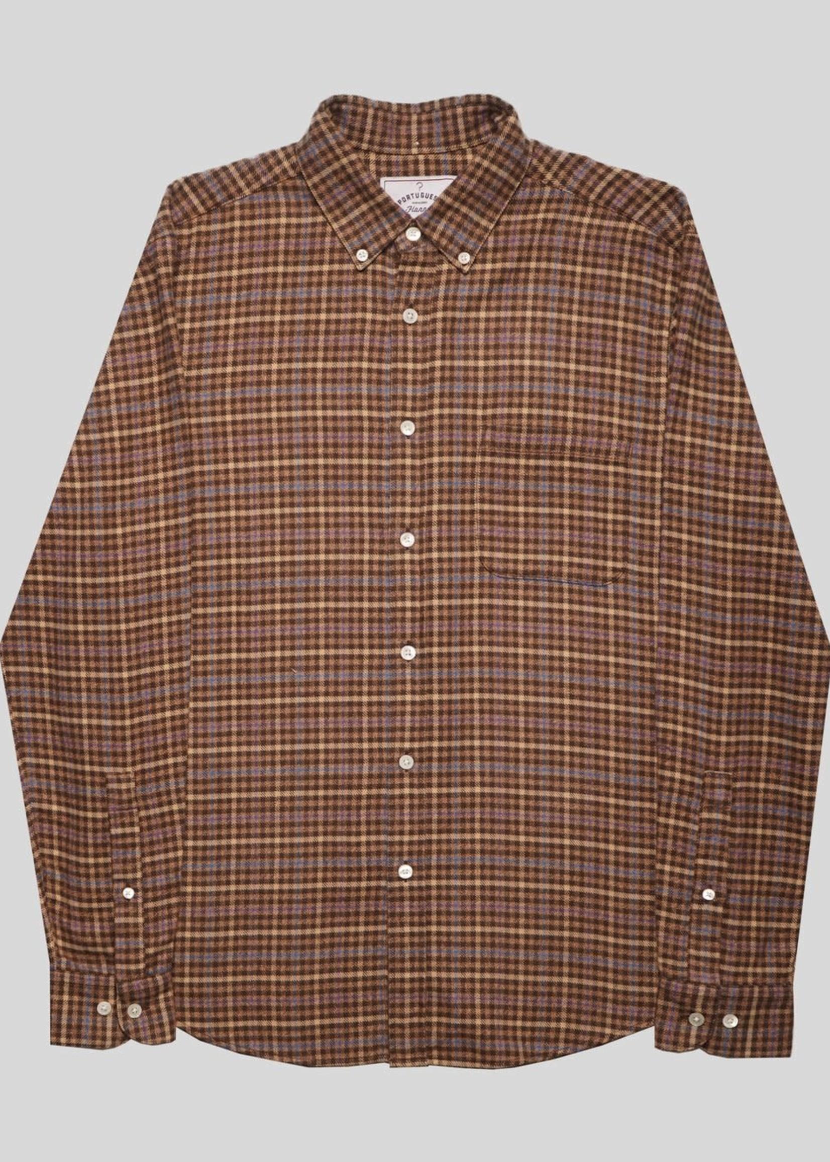 Portuguese Flannel Portuguese Flannel Twill Multi Check Flannel Sport Shirt