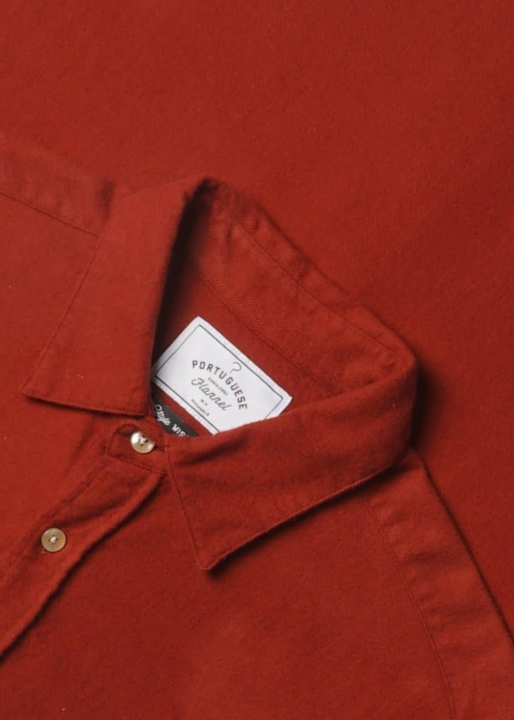 Portuguese Flannel Portuguese Flannel Teca Merlot Flannel Sport Shirt