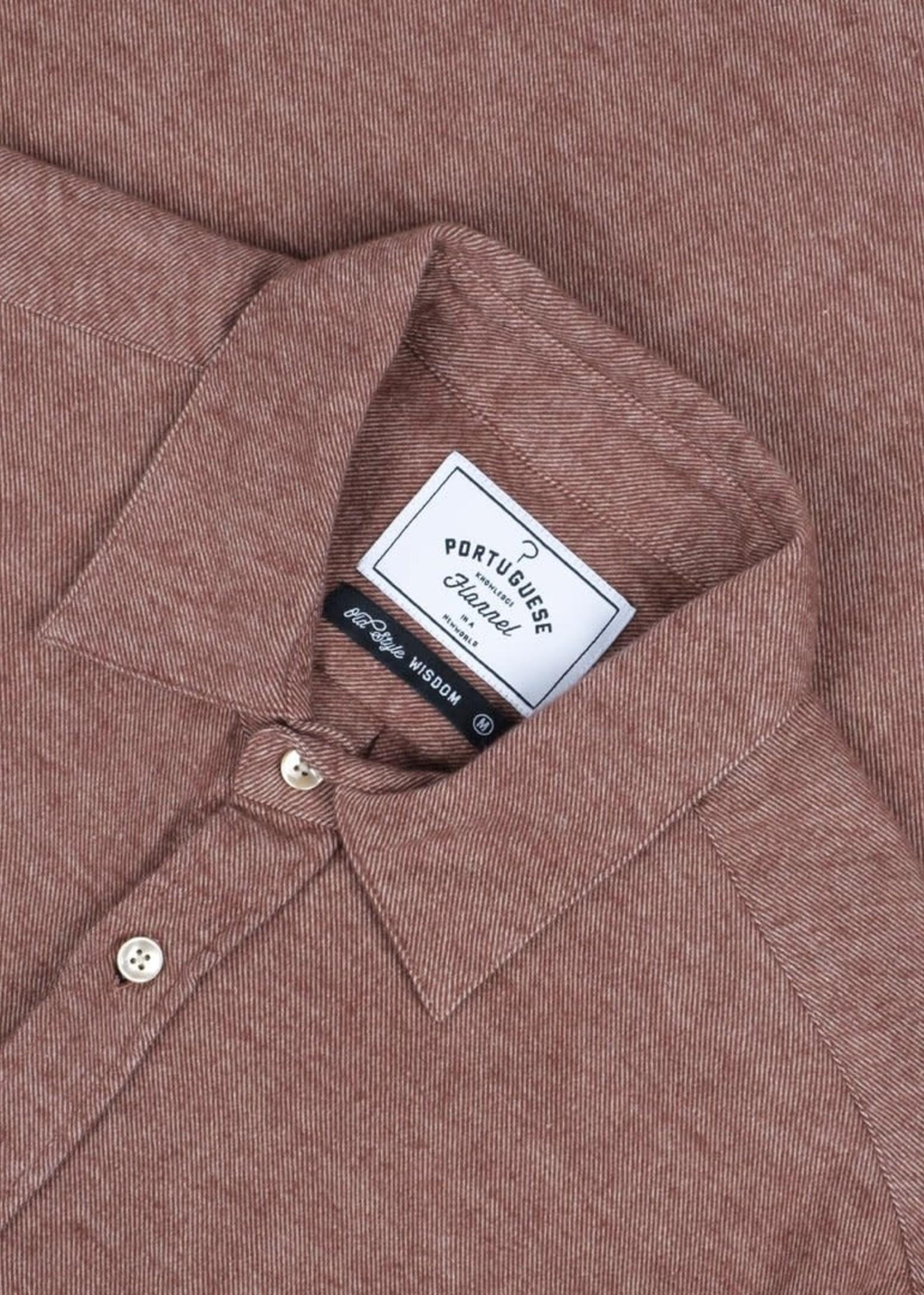 Portuguese Flannel Portuguese Flannel Teca Cinnamon Flannel Sport Shirt