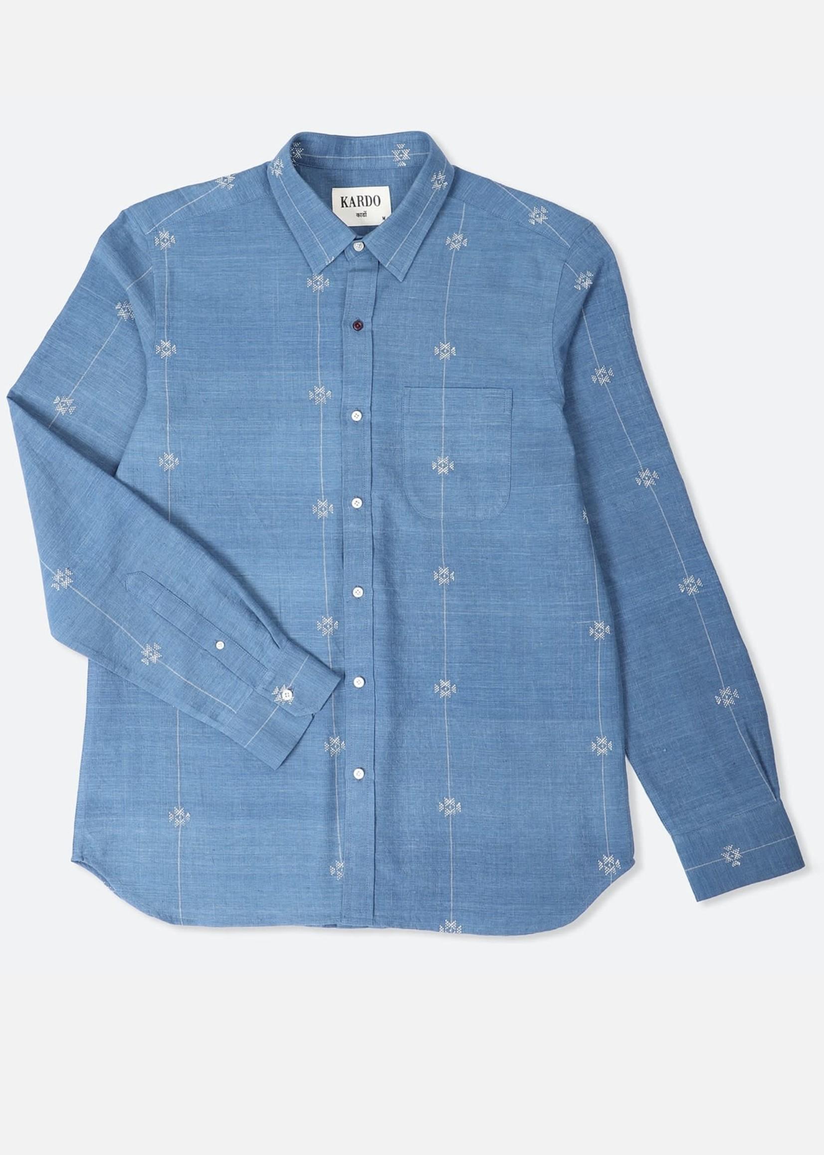 Kardo Kardo Rodney Blue Embroidered Shirt L/S