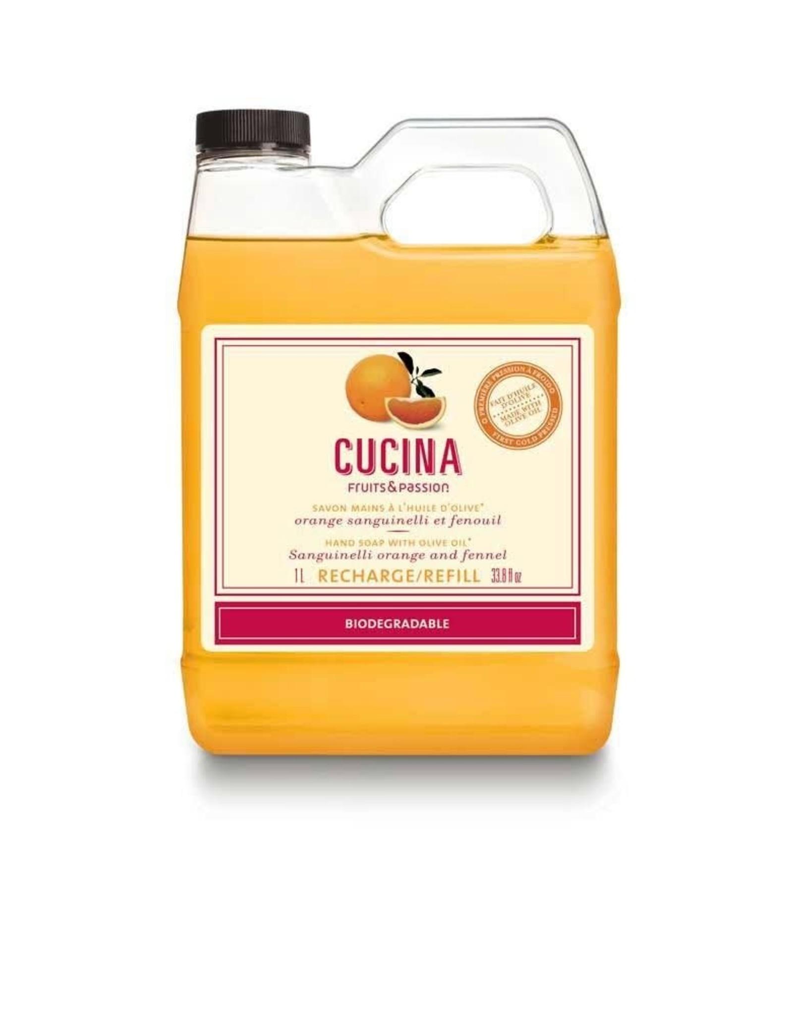Fruits et Passion Recharge de Savon Mains Orange Sanguinelli et Fenouil 1L