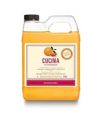 Fruits et Passion Recharge de Savon Mains Cucina Orange Sanguinelli et Fenouil 1L