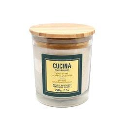 Fruits et Passion Bougie Parfumée Fleur de Sel et Citron d'Amalfi 220g